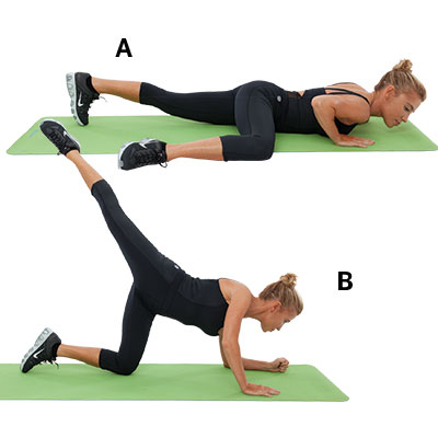 Splat press-up to kick