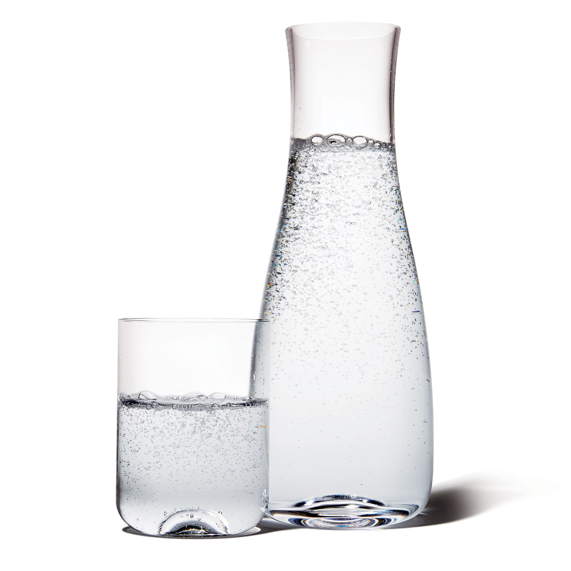 Crate and Barrel Oasis Bed Carafe with Glass
