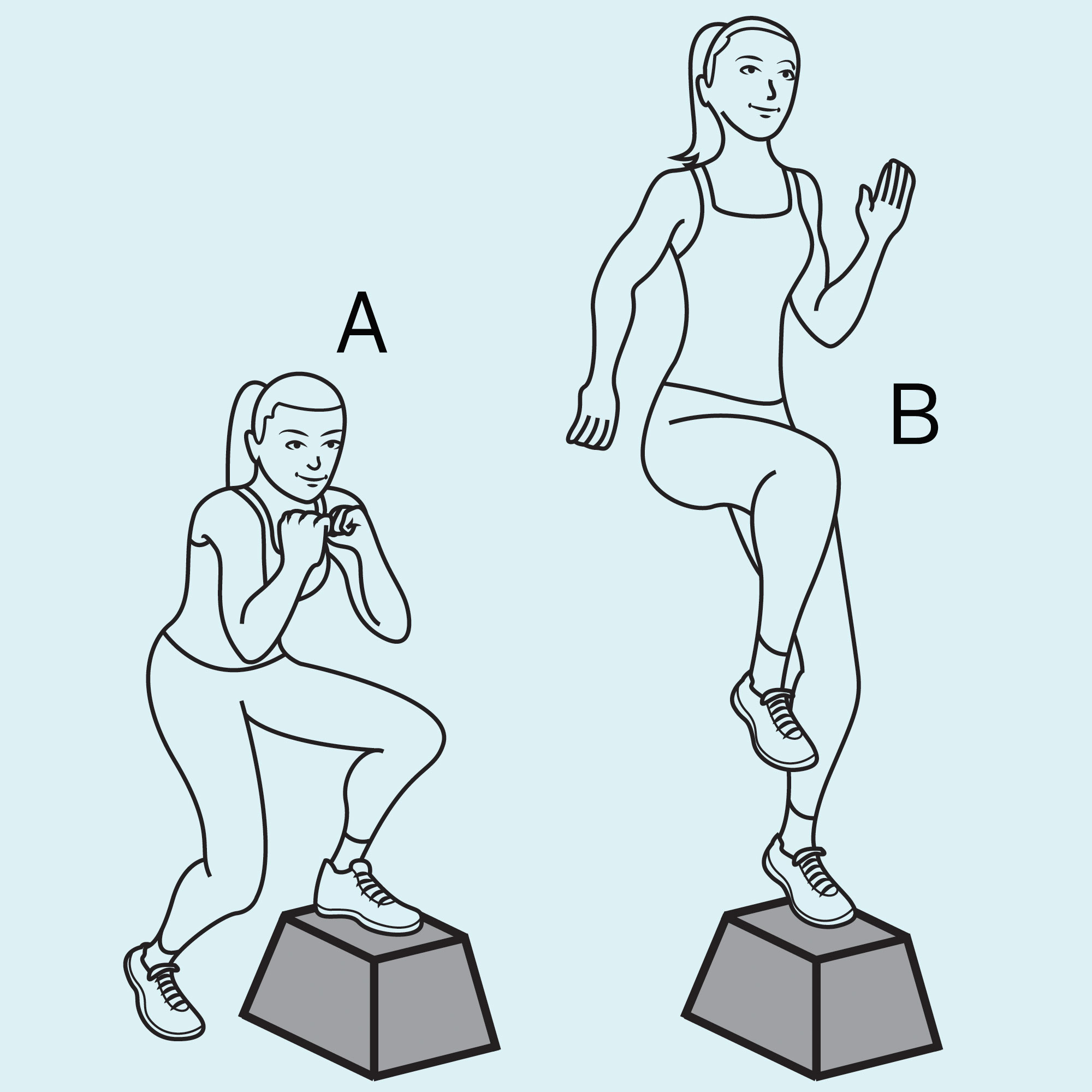 step-down squat