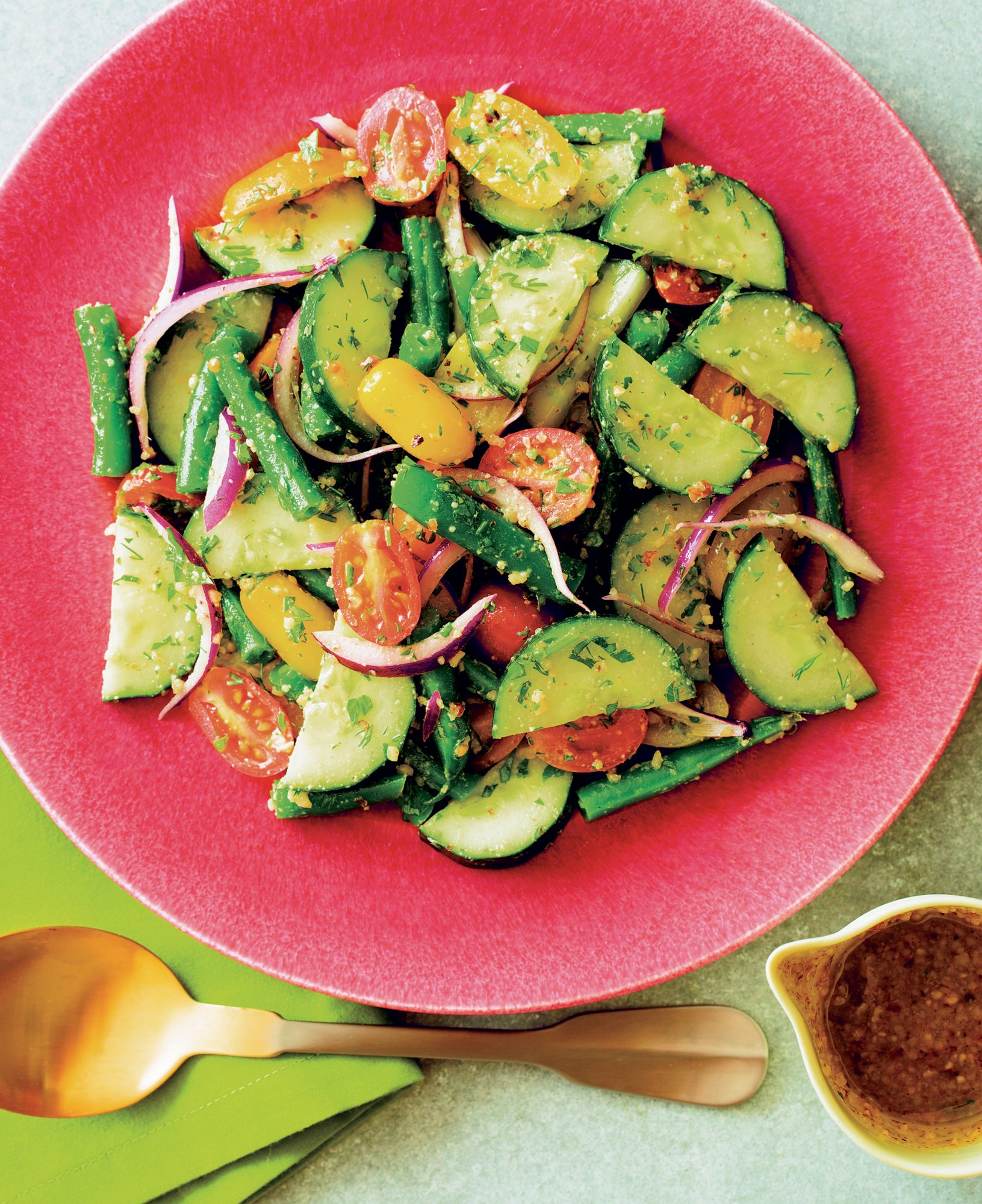 Tomato, Cucumber, and Green Bean Salad