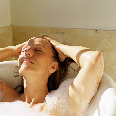 5. Take a warm bath or shower