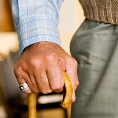 8. Use a cane for comfort and mobility.