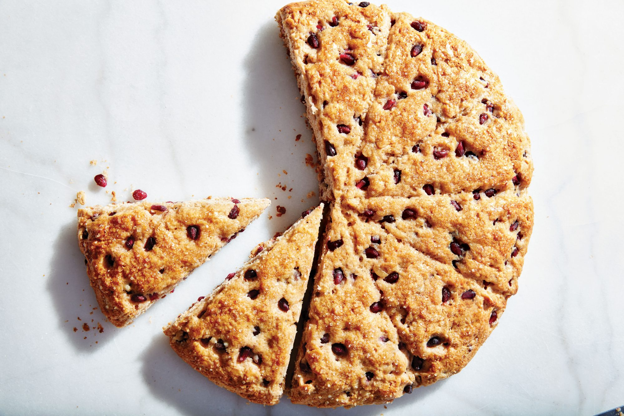 Spelt, Toasted Oat, and Pomegranate Scones