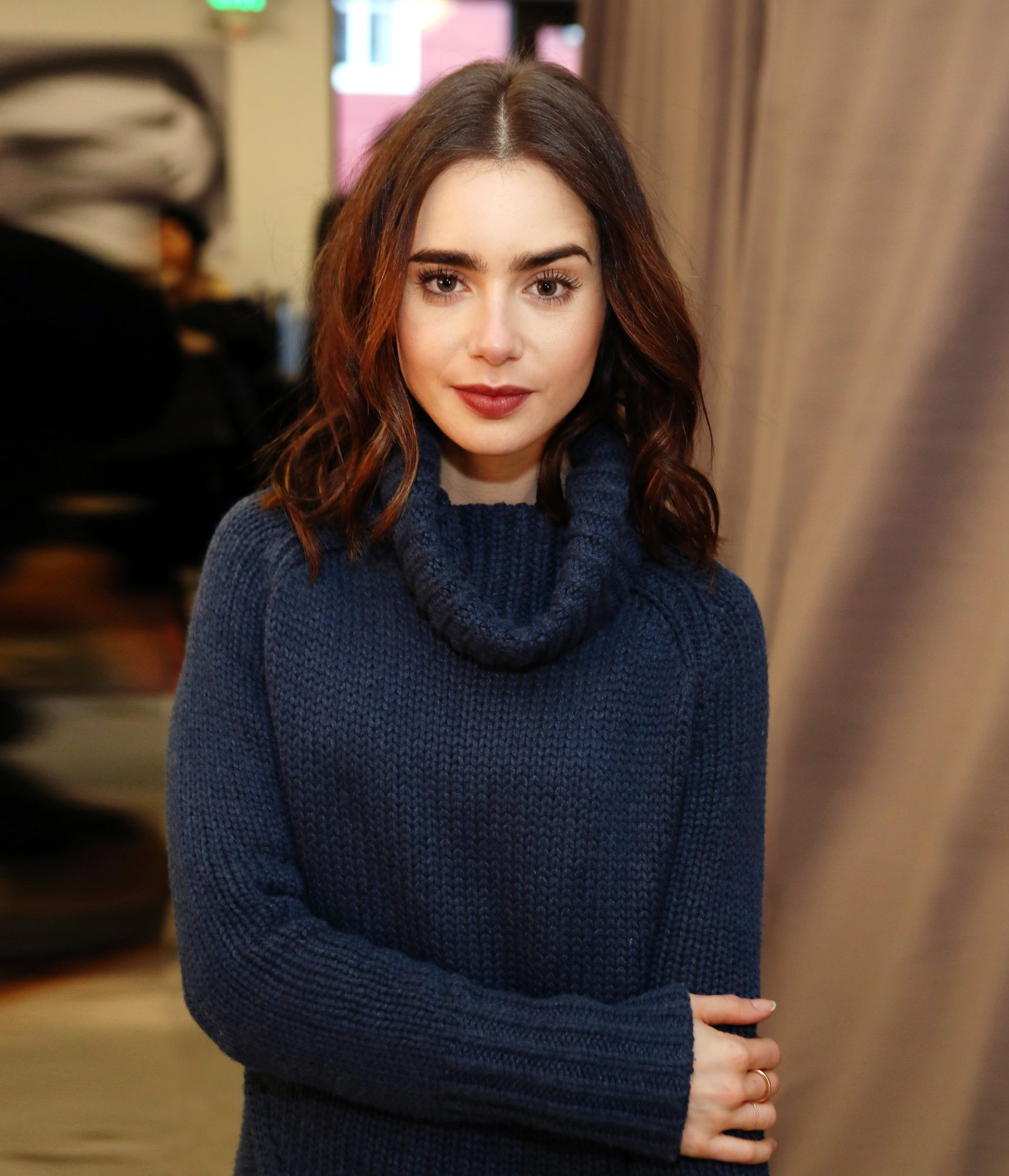 lily-collins-sweater