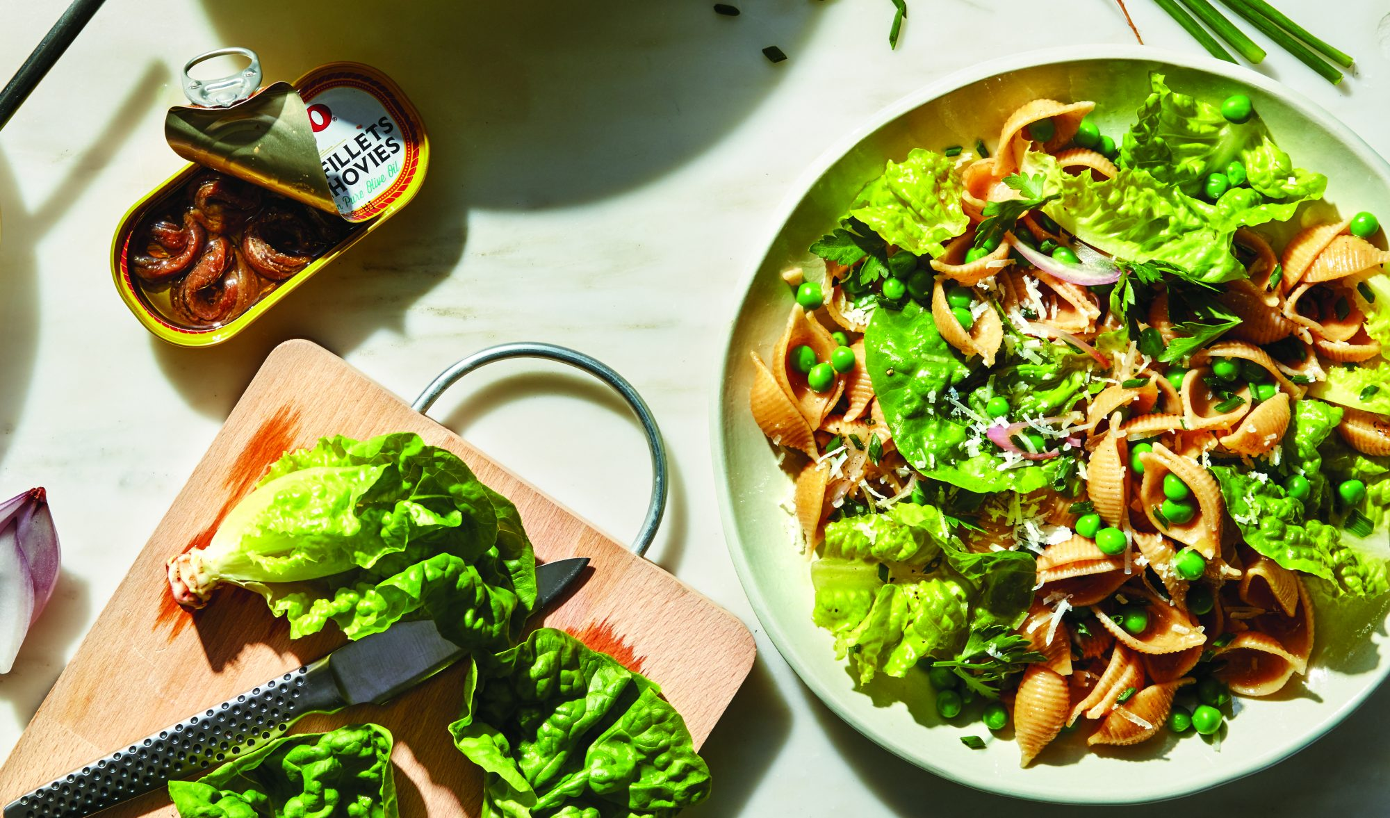 Shells With Bibb Lettuce and Spring Peas