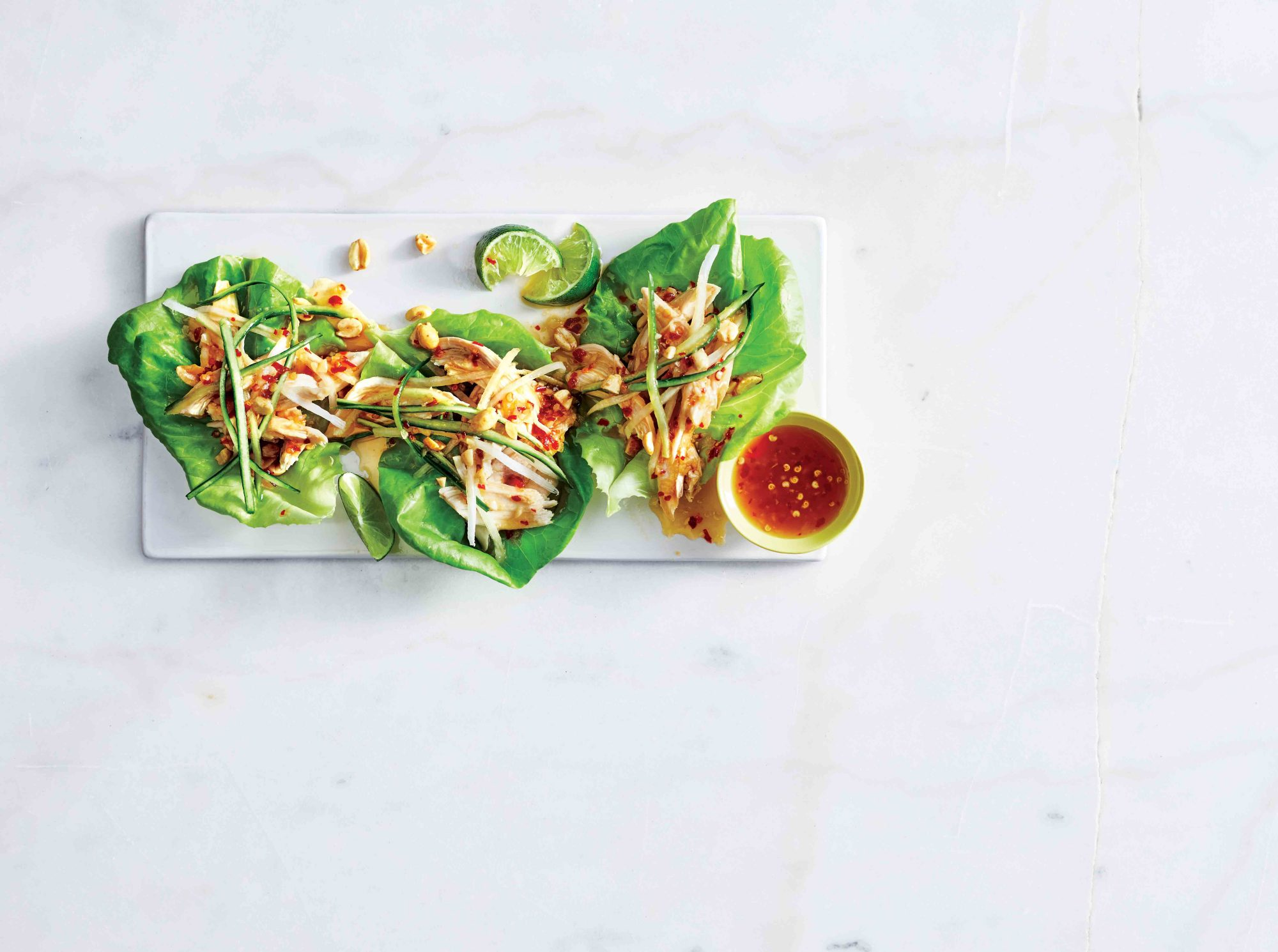 Sweet-and-Sour Chicken Lettuce Wraps