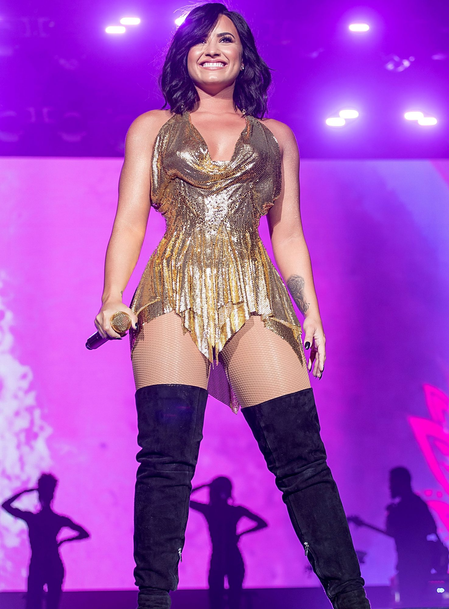 Demi Lovato Is Fine with Not Having a Thigh Gap: 'I'm Still Beautiful the Way I Am'