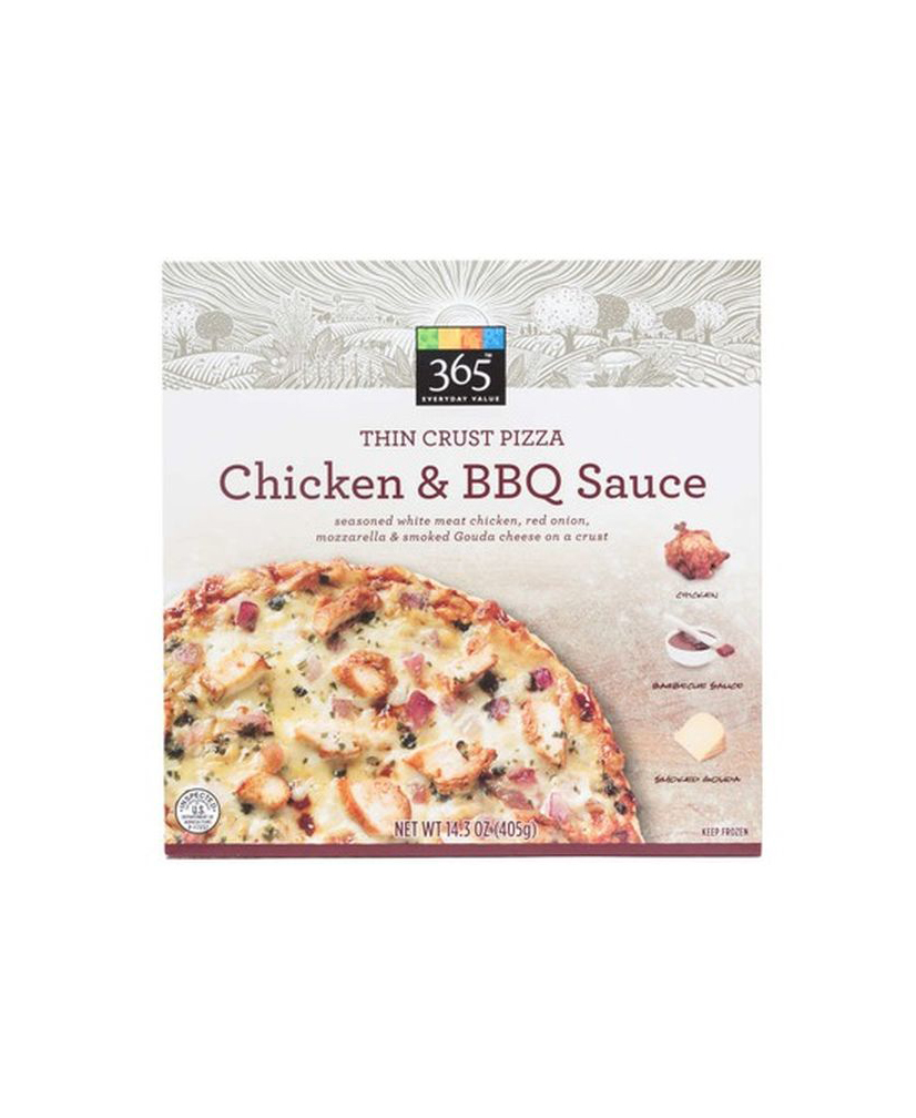 Whole Foods 365 Thin Crust Chicken & BBQ Sauce Pizza