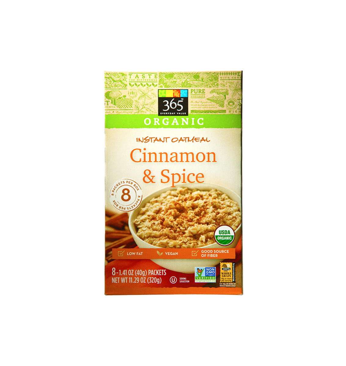 Whole Foods 365 Organic Cinnamon & Spice Instant Oatmeal