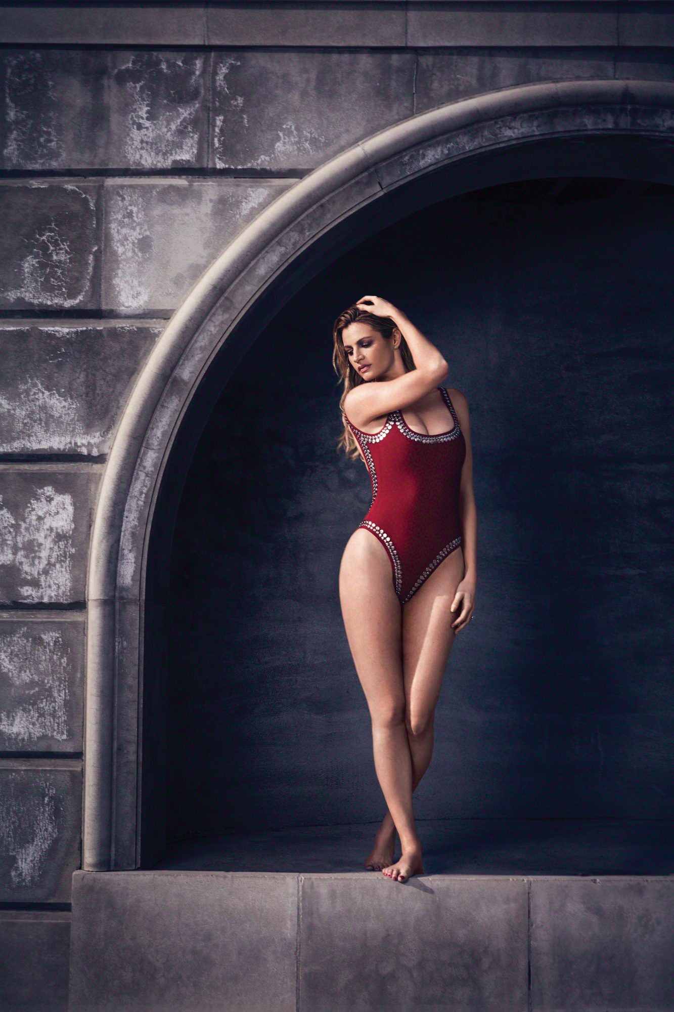 erin-andrews-red-one-piece-swimsuit