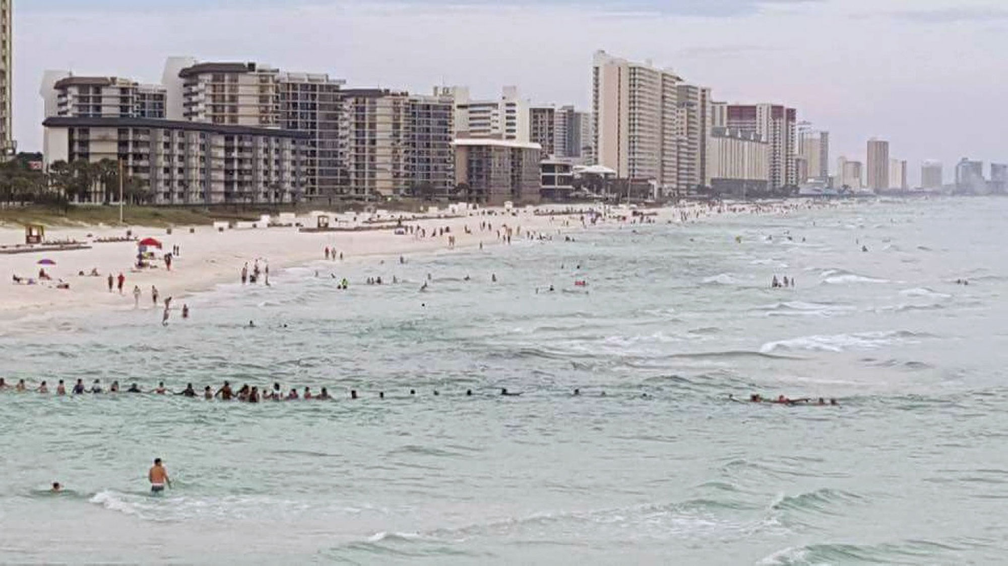 Family of Six Saved From Drowning by Beachgoers Who Formed a Human Chain