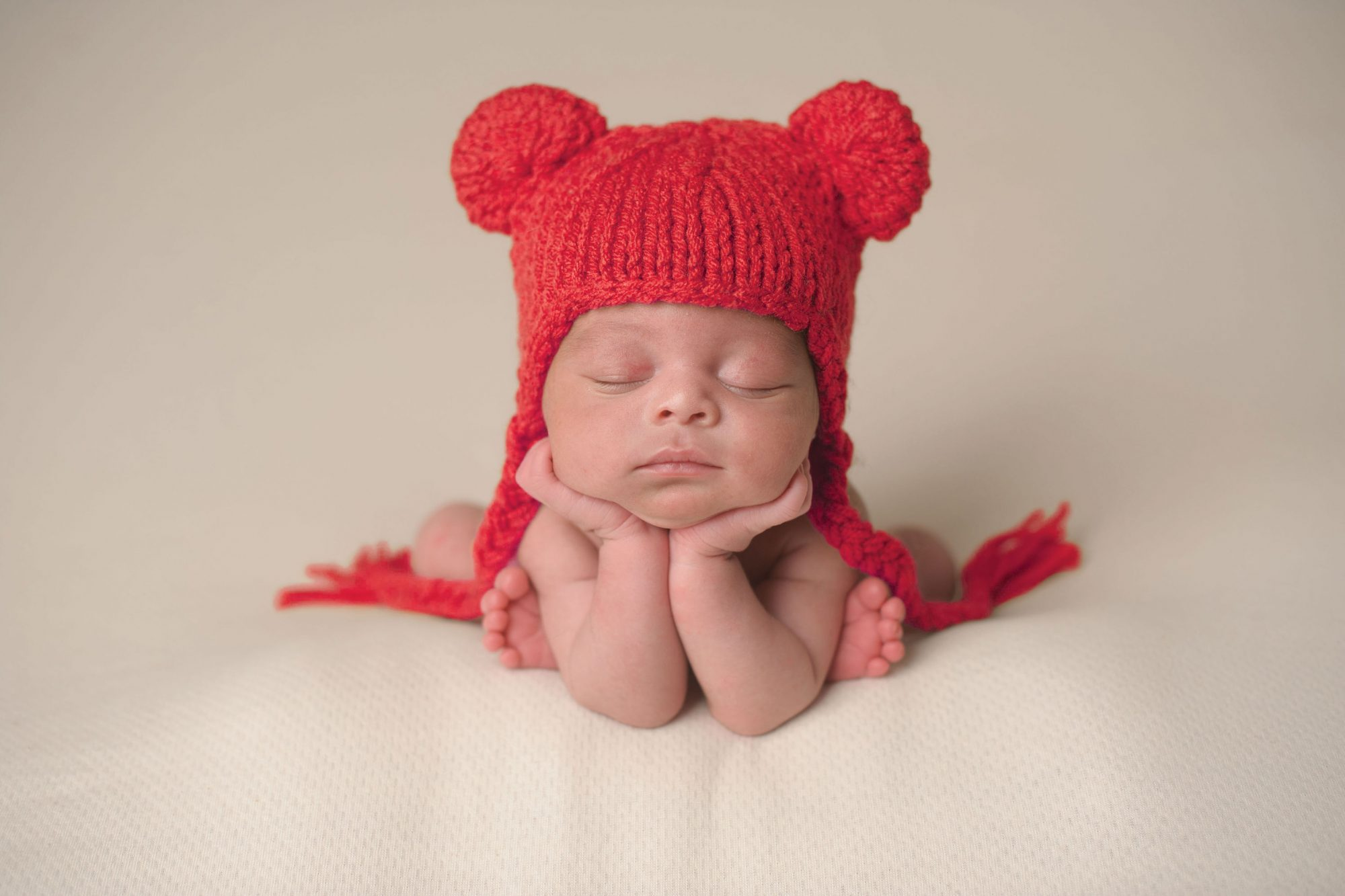 American Heart Association Baby in Red Hat