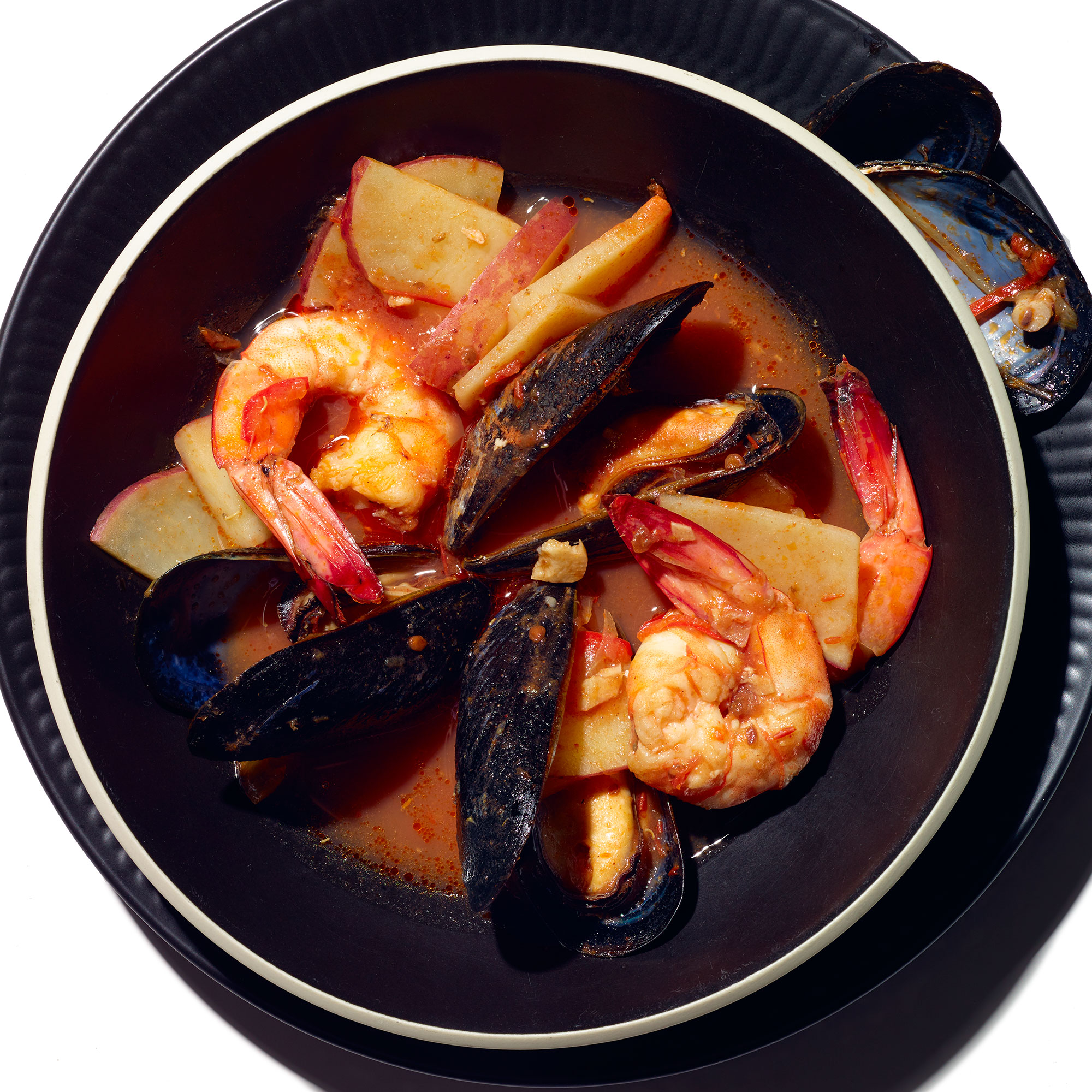 Spicy Shrimp and Mussel Soup