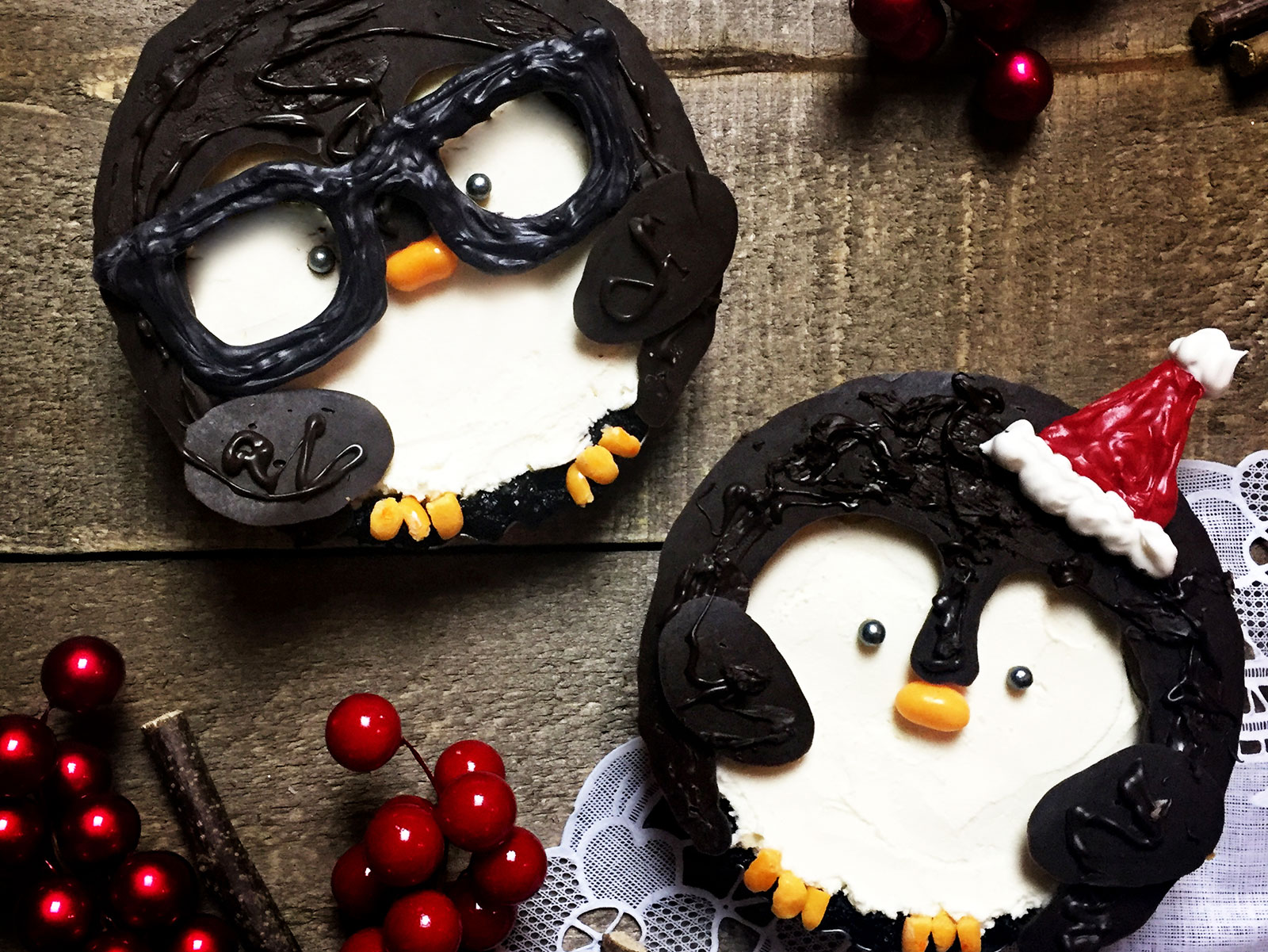 No-Bake Oreo Penguin Pies