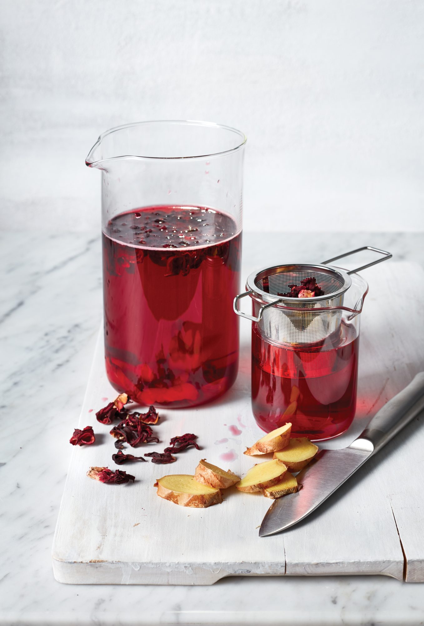 hibiscus ginger tonic blast bloat recipes drinks beverages