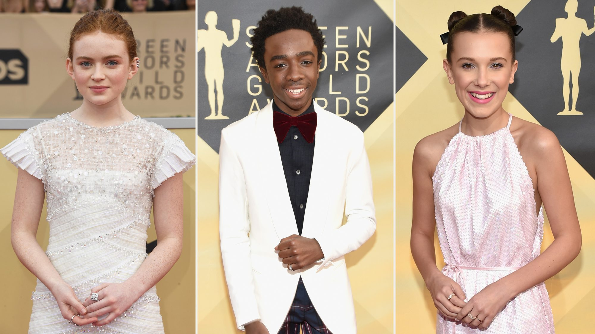 fashion standouts at the SAG awards stranger things cast