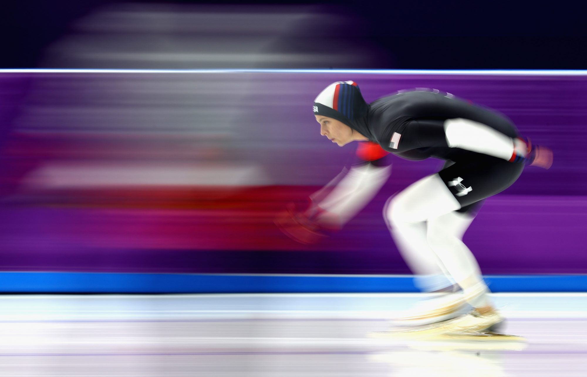 Brittany Bowe speed skating at the 2018 Winter Olympics