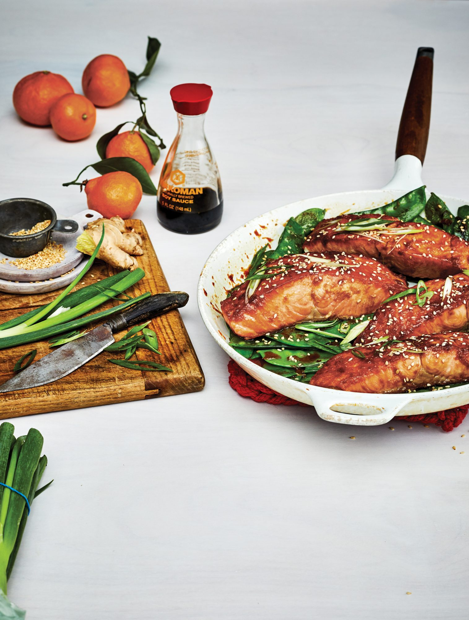 orange ginger salmon snow peas recipes