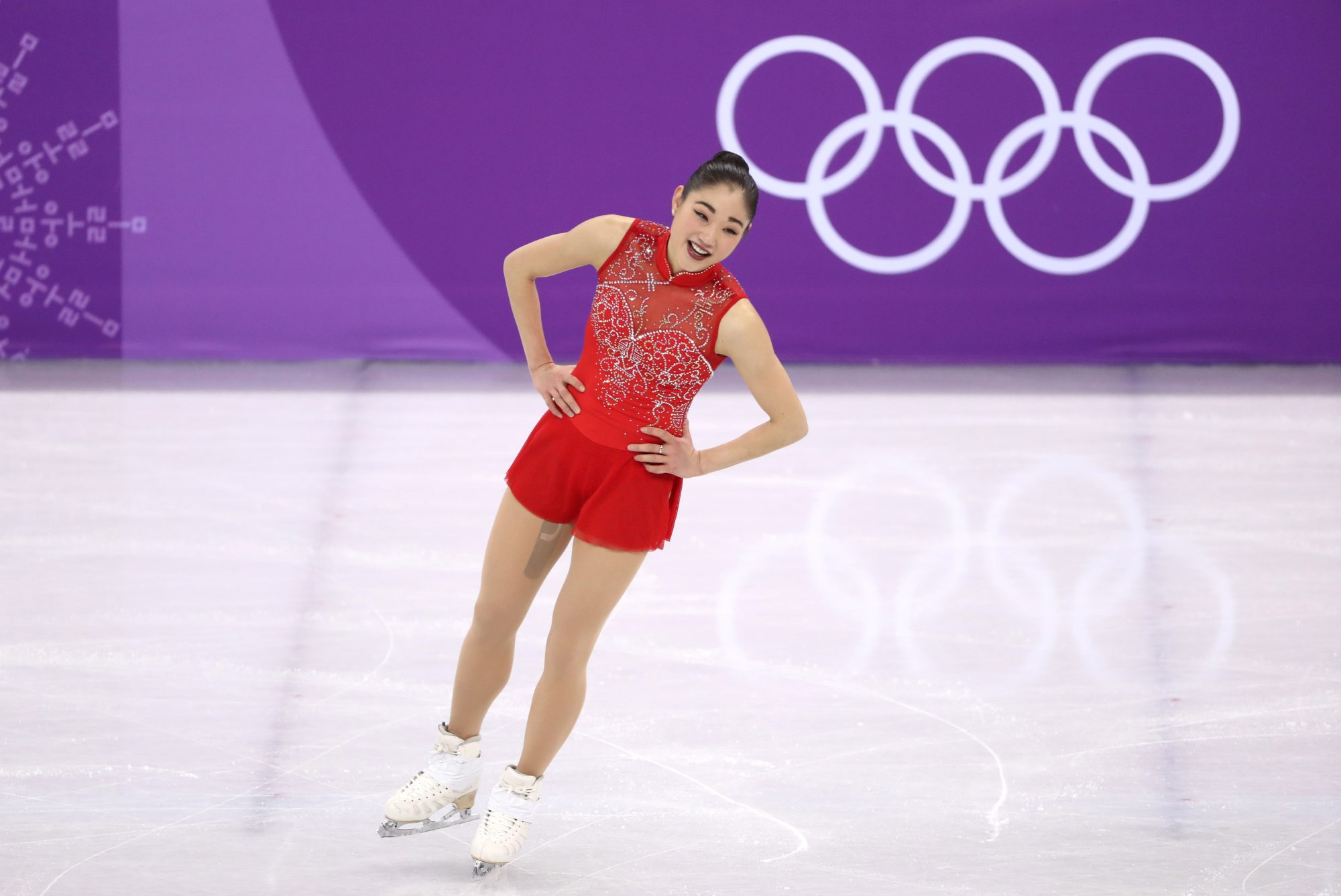 Mirai Nagasu ice skating at the 2018 Winter Olympics