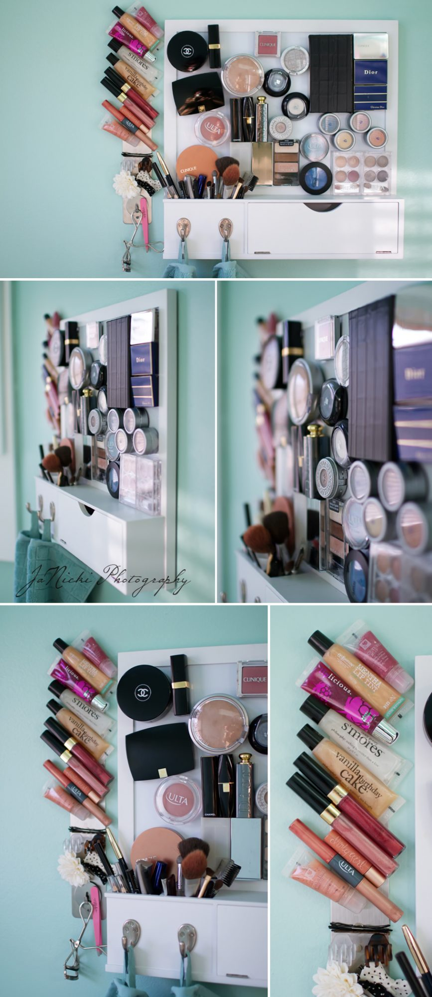 Magnetic board makeup organization hack