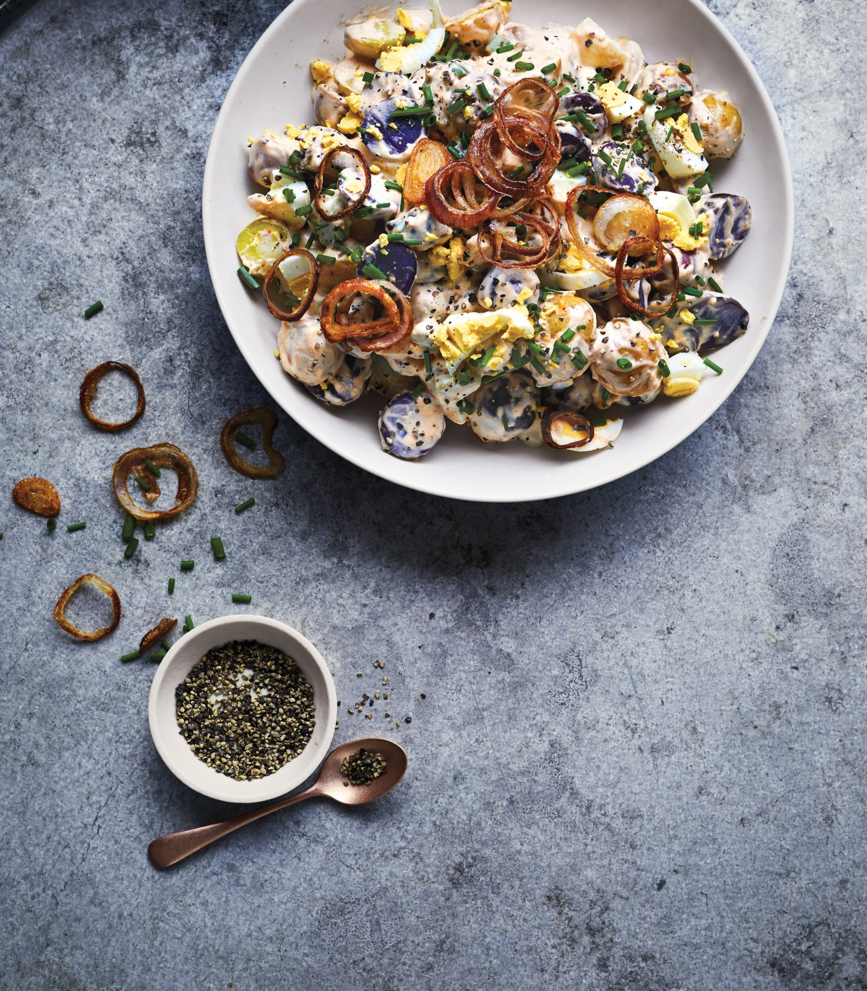 rainbow-potato-salad-crispy-shallots