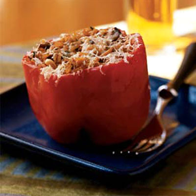 Turkey alternative: Vegetarian Stuffed Peppers