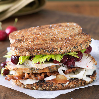 Open-Faced Turkey Sandwiches With Cranberry Chutney