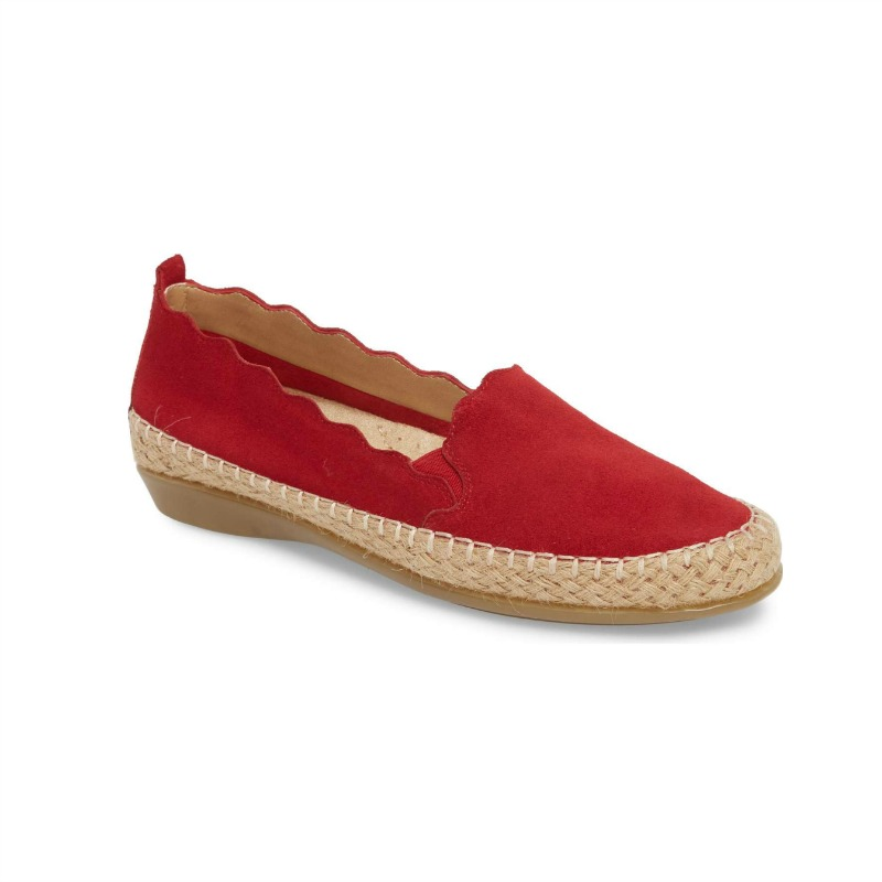 red-comfortable-espadrille