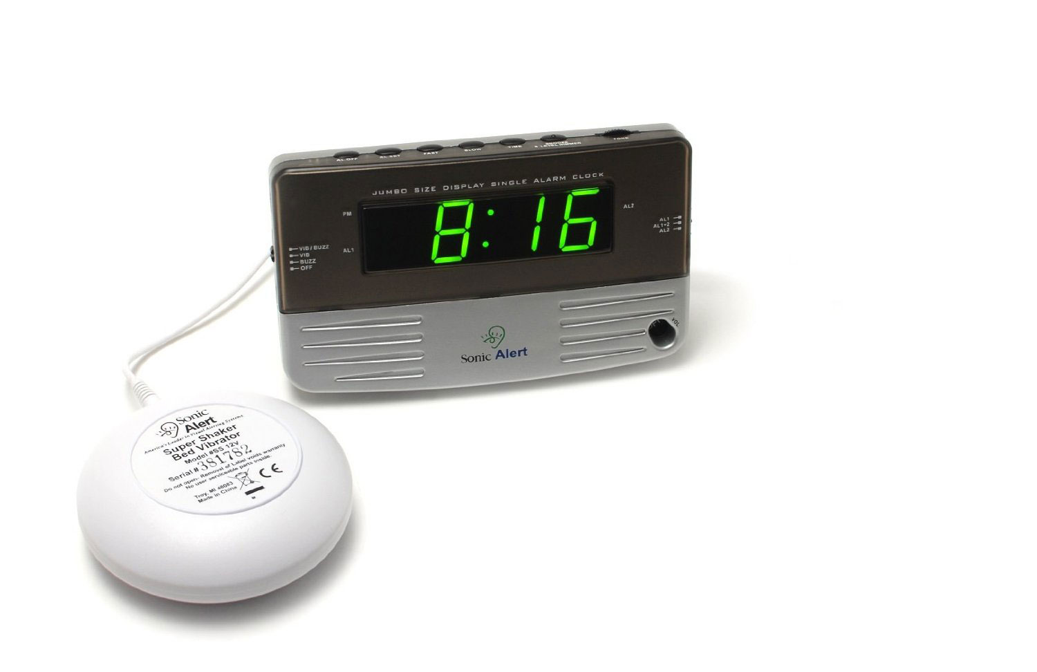 Best Overall: Sonic Alert Sonic Bomb Extra-Loud Dual Alarm Clock