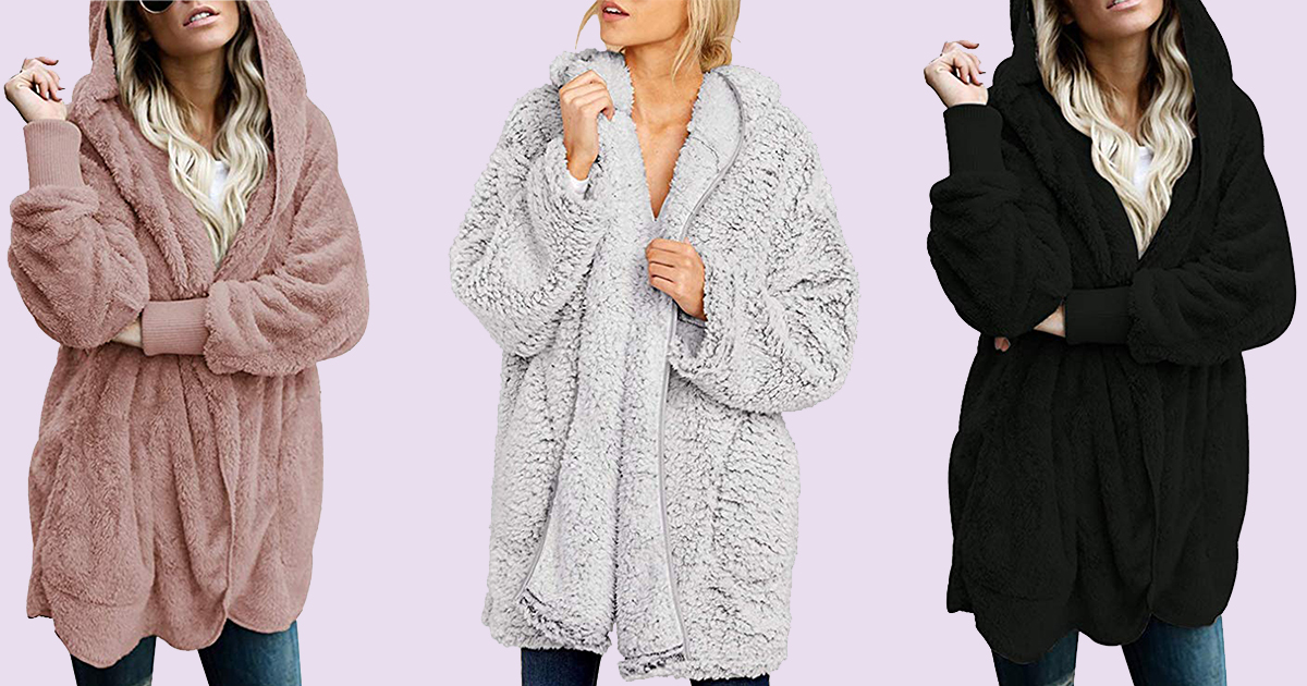 amazon fluffy coat