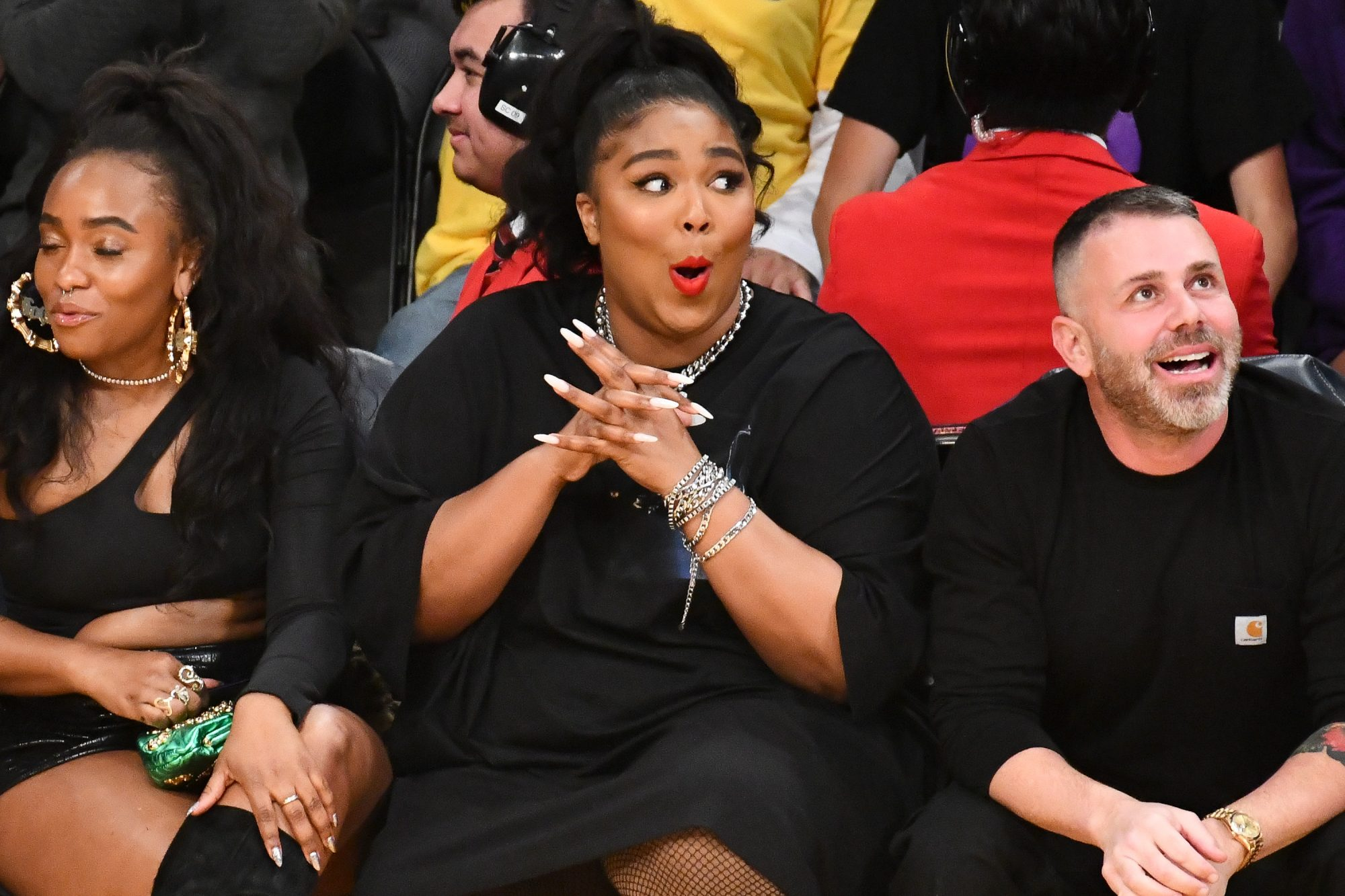 Lizzo at Los Angeles Lakers Game