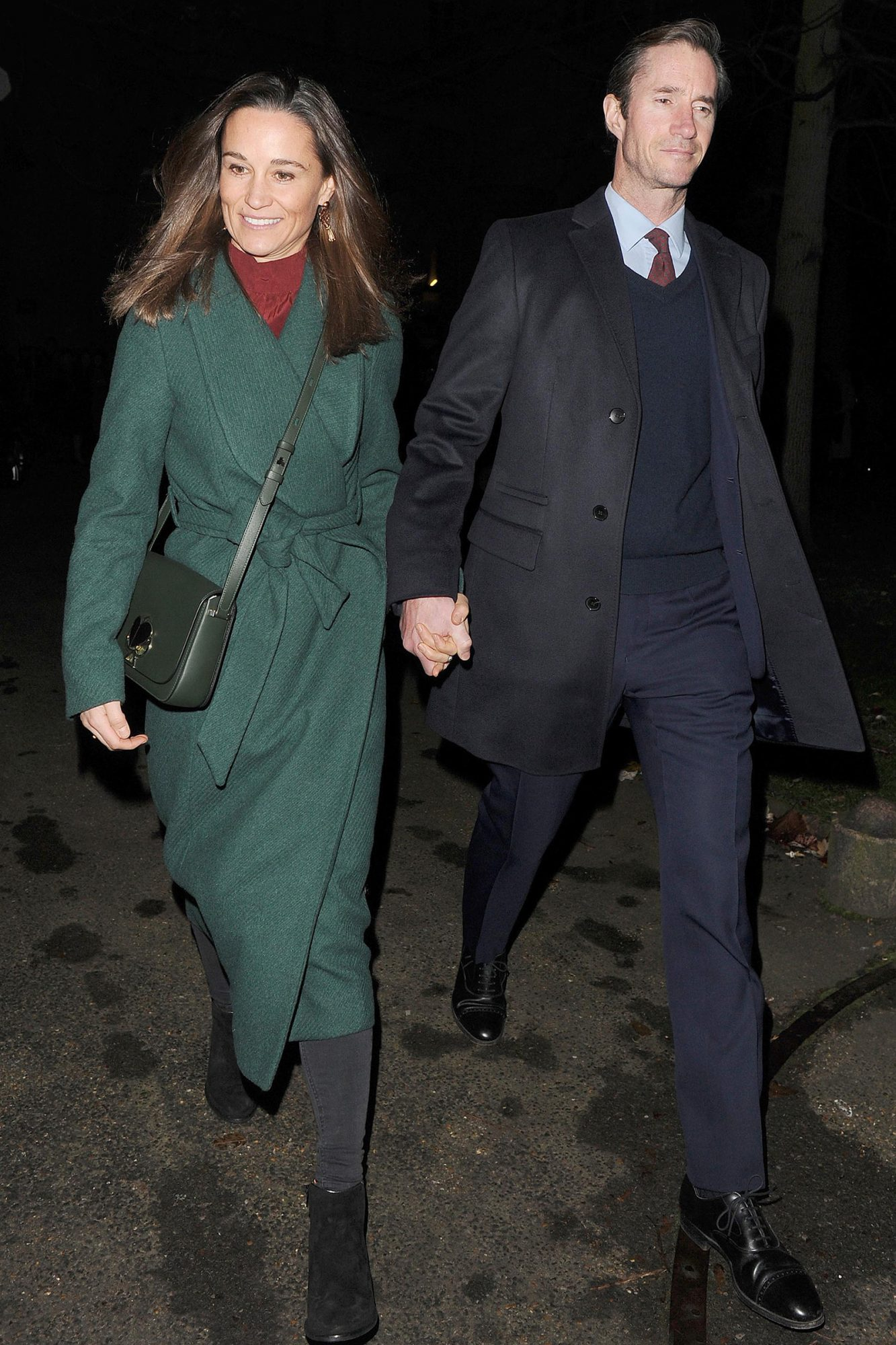 Pippa Middleton and her husband James Matthews leaving St Luke's church in Chelsea, hand in hand, having attended The Henry Van Straubenzee Memorial Fund's Christmas Carol Service
