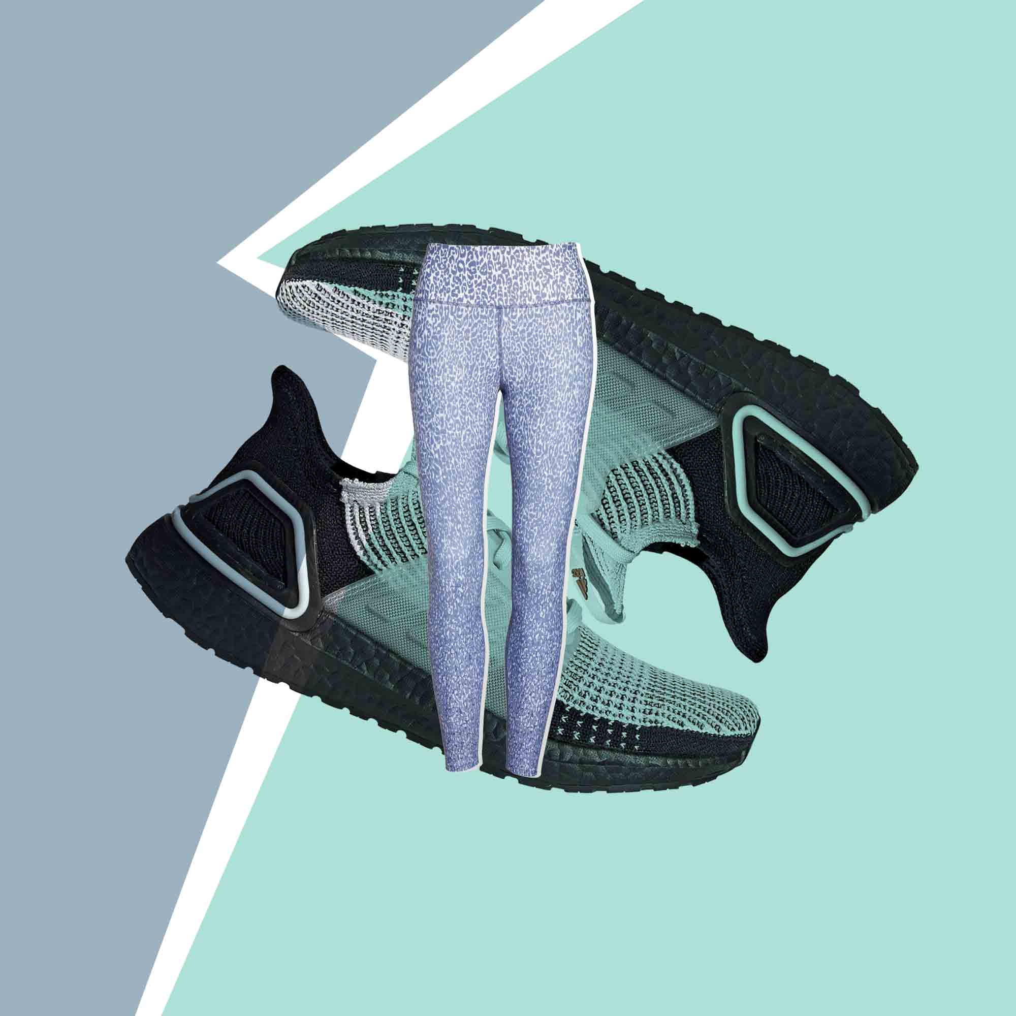 Workout Shoes Leggings Collage Tout