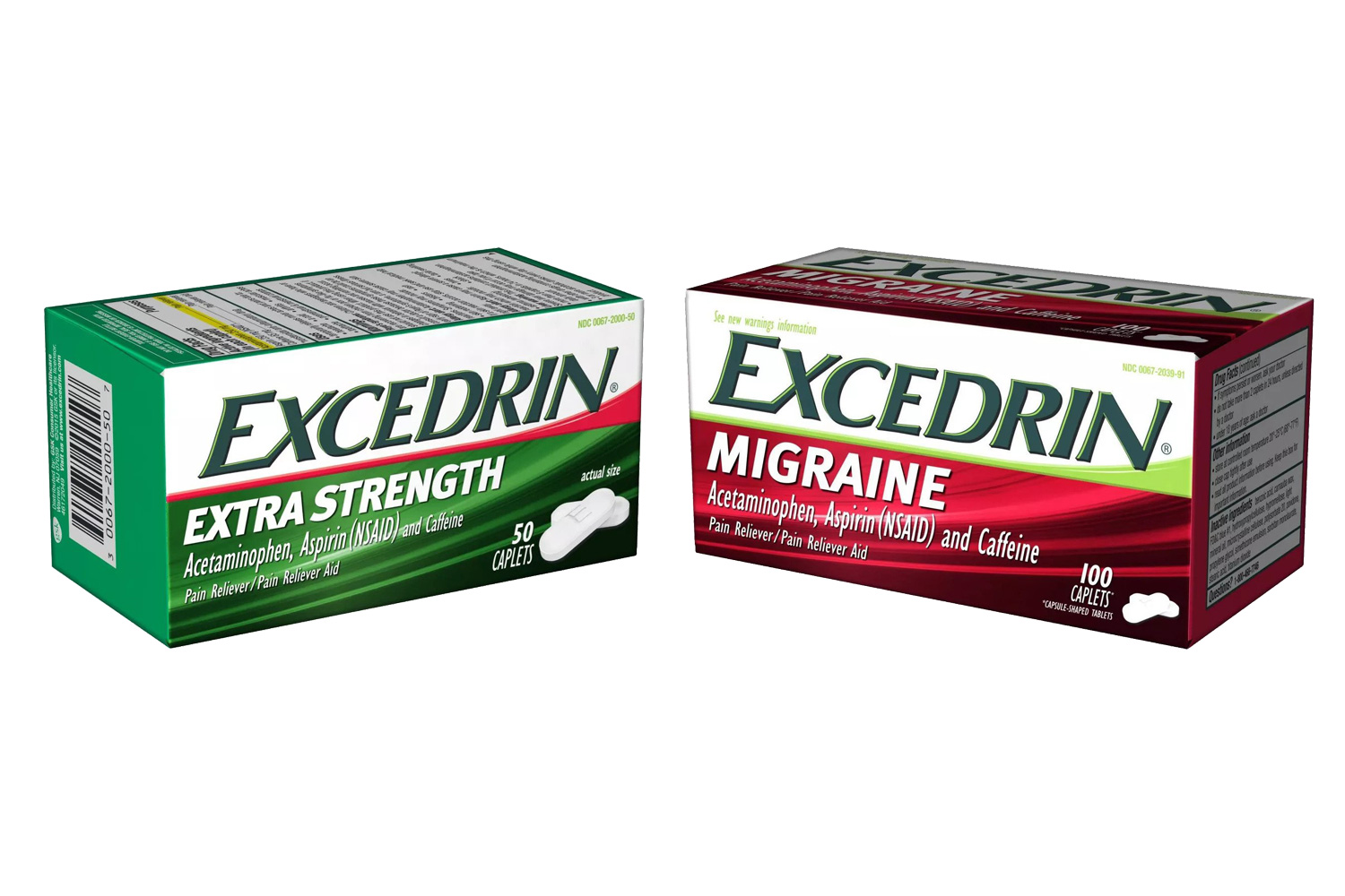 Excedrin Extra Strength and Excedrin Migraine