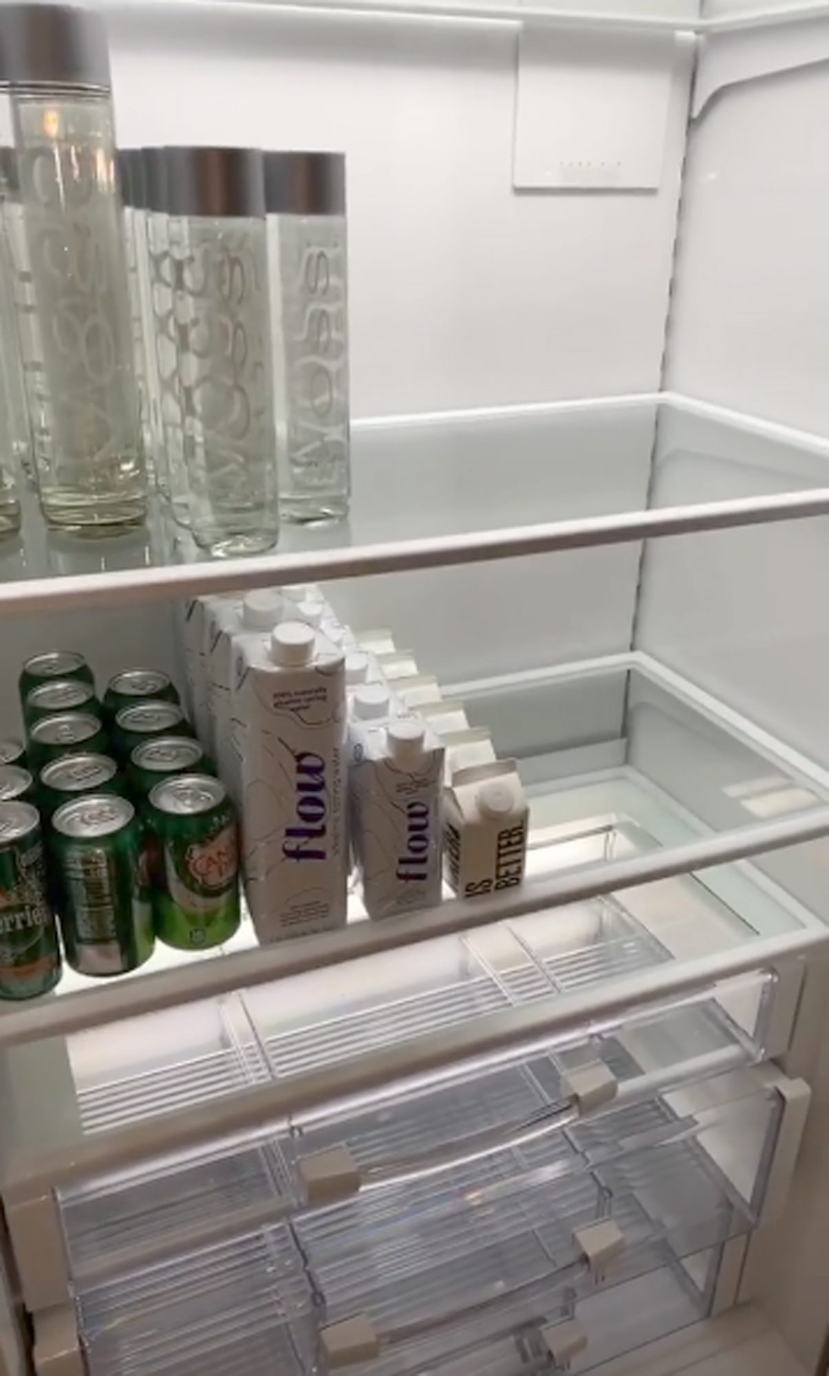 Kim Kardashian gives us a tour of her fridge