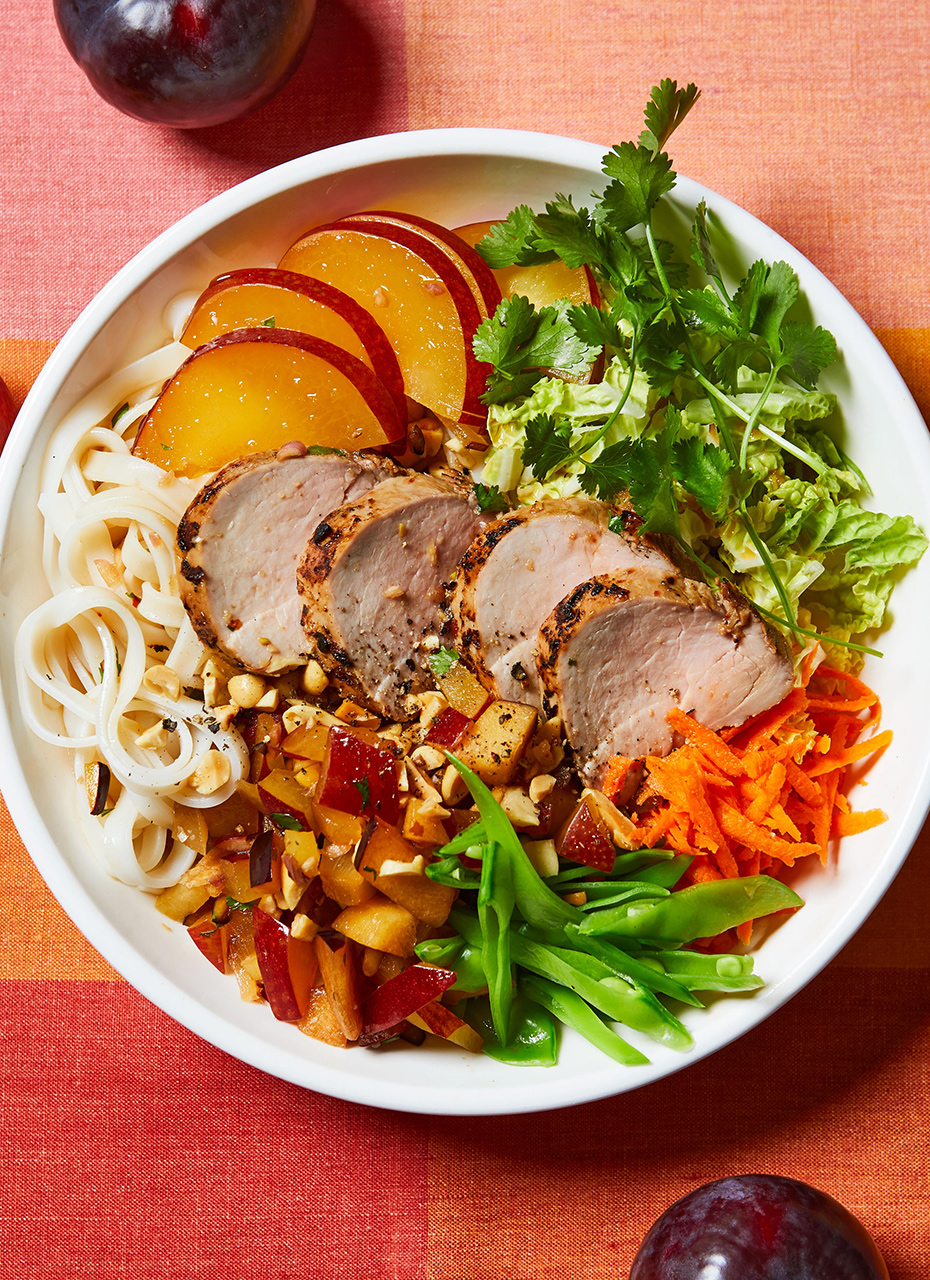 Plum-Pork Noodle Bowl