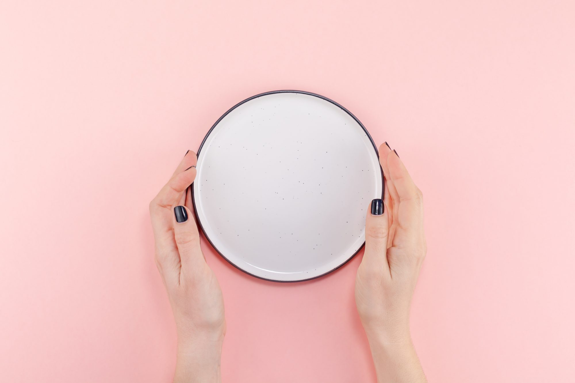 Empty plate in female hands mockup , eating-disorder-self-isolation , covid-19 , coronavirus , eating-disorder , mental-health