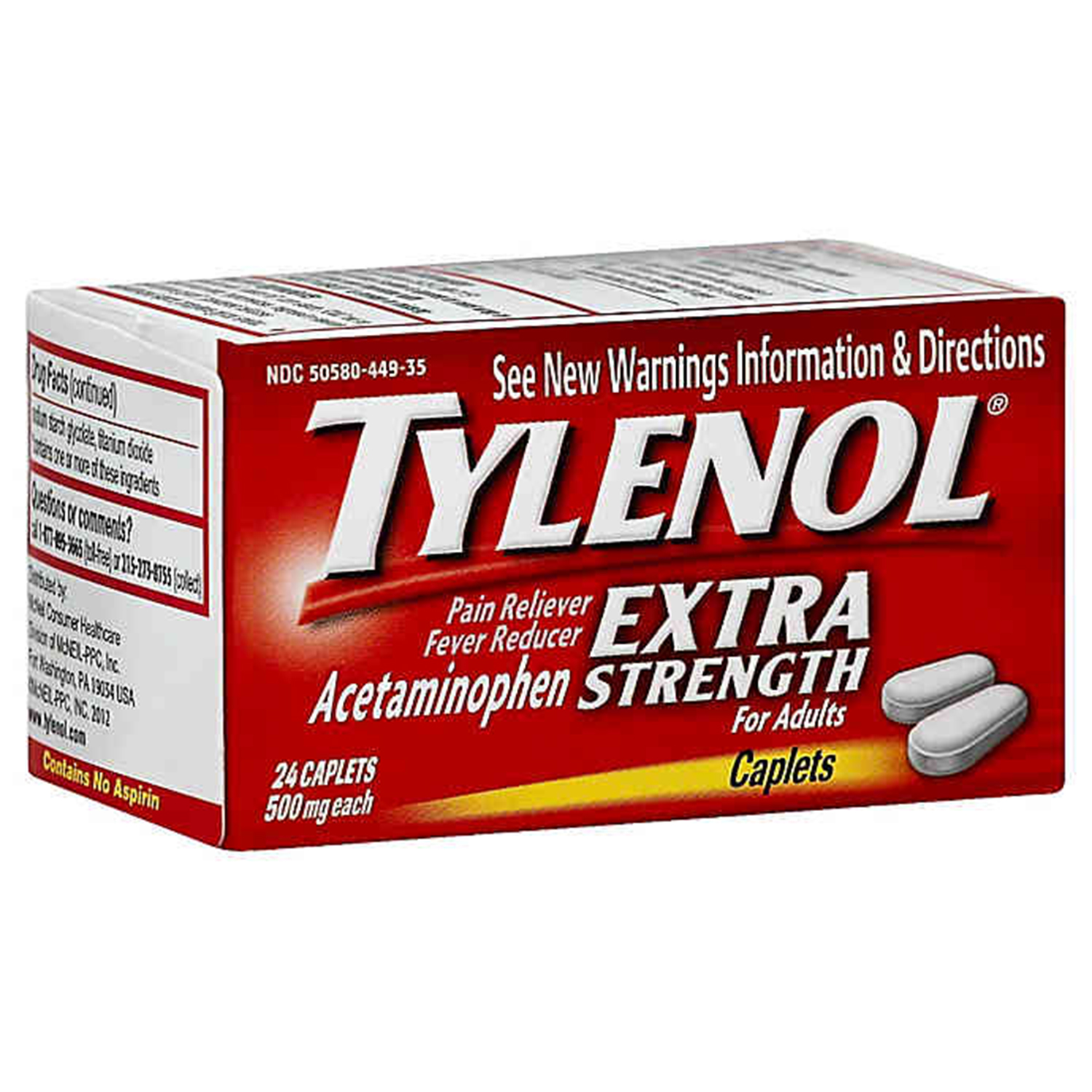 Tylenol Extra Strength 24-Count 500 mg Pain Reliever Caplets