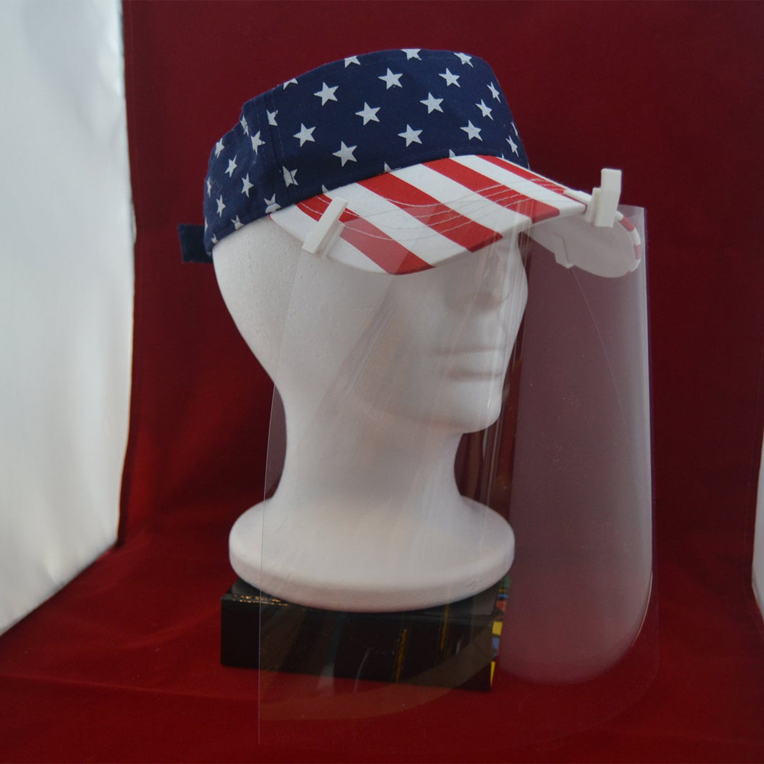 CLIP ON Hat Face Shield | Attaches to ANY Hat