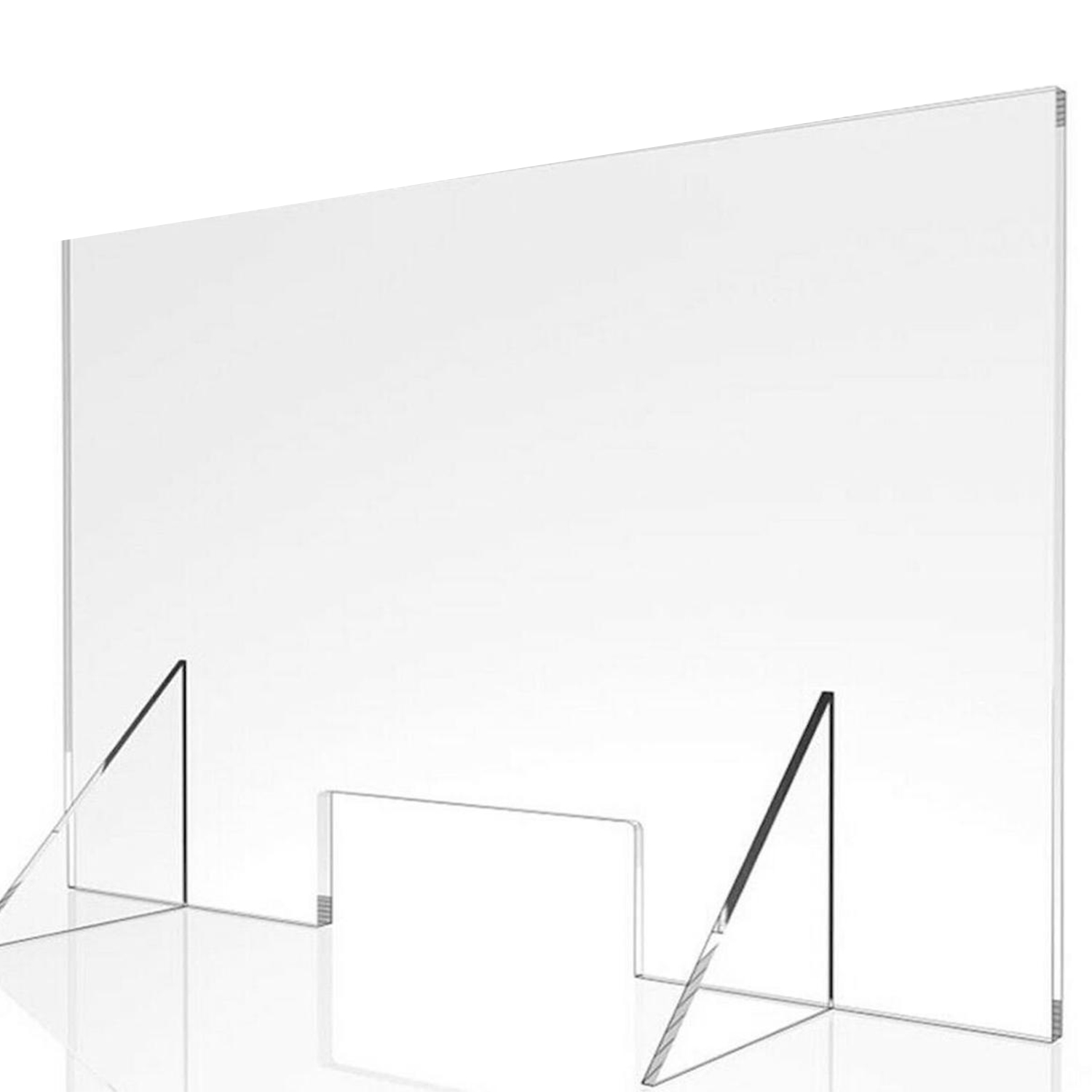 Sneeze Guard USA MADE Acrylic Protective shield for Reception Desk Cashier Protection Barrier Shield Checkout Counter