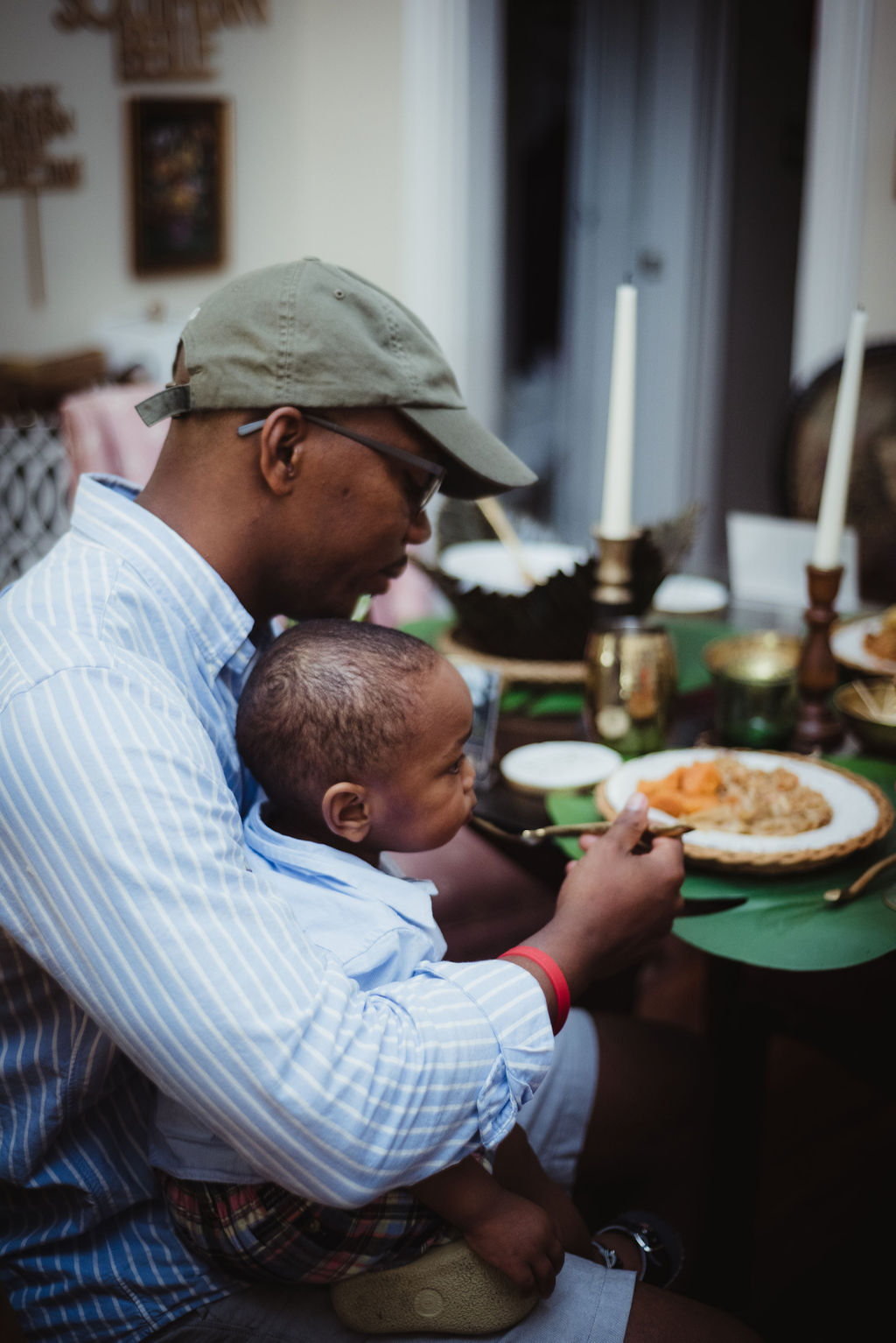 A traditional Juneteenth meal shared with family.
