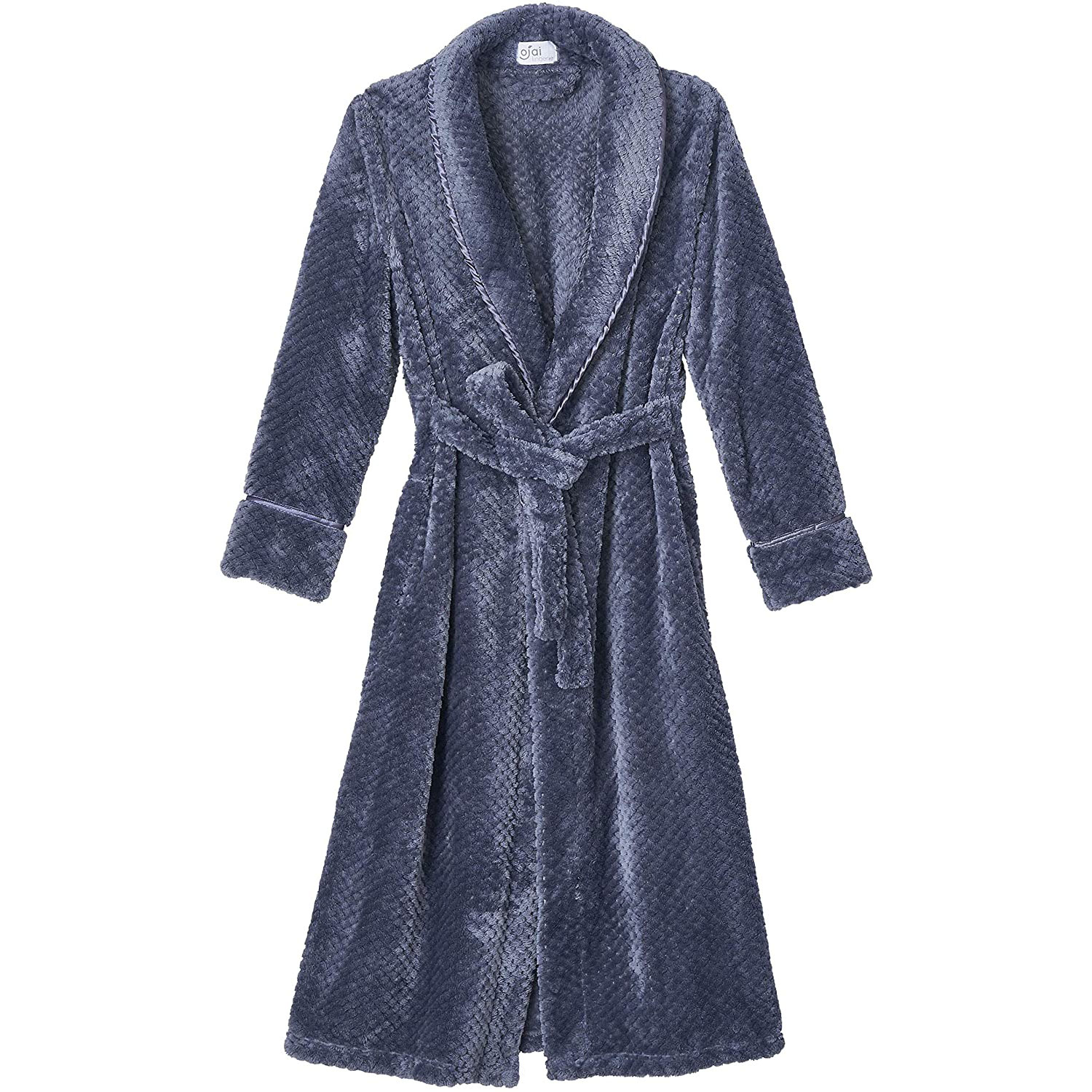 ojai lingerie women's ultra plush fleece bathrobe
