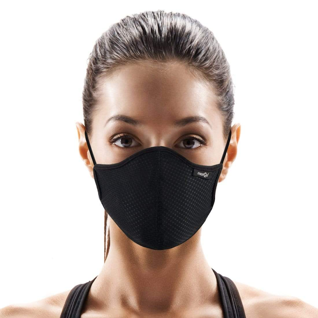 Masqd Ultra Sport Mask on woman with brown hair