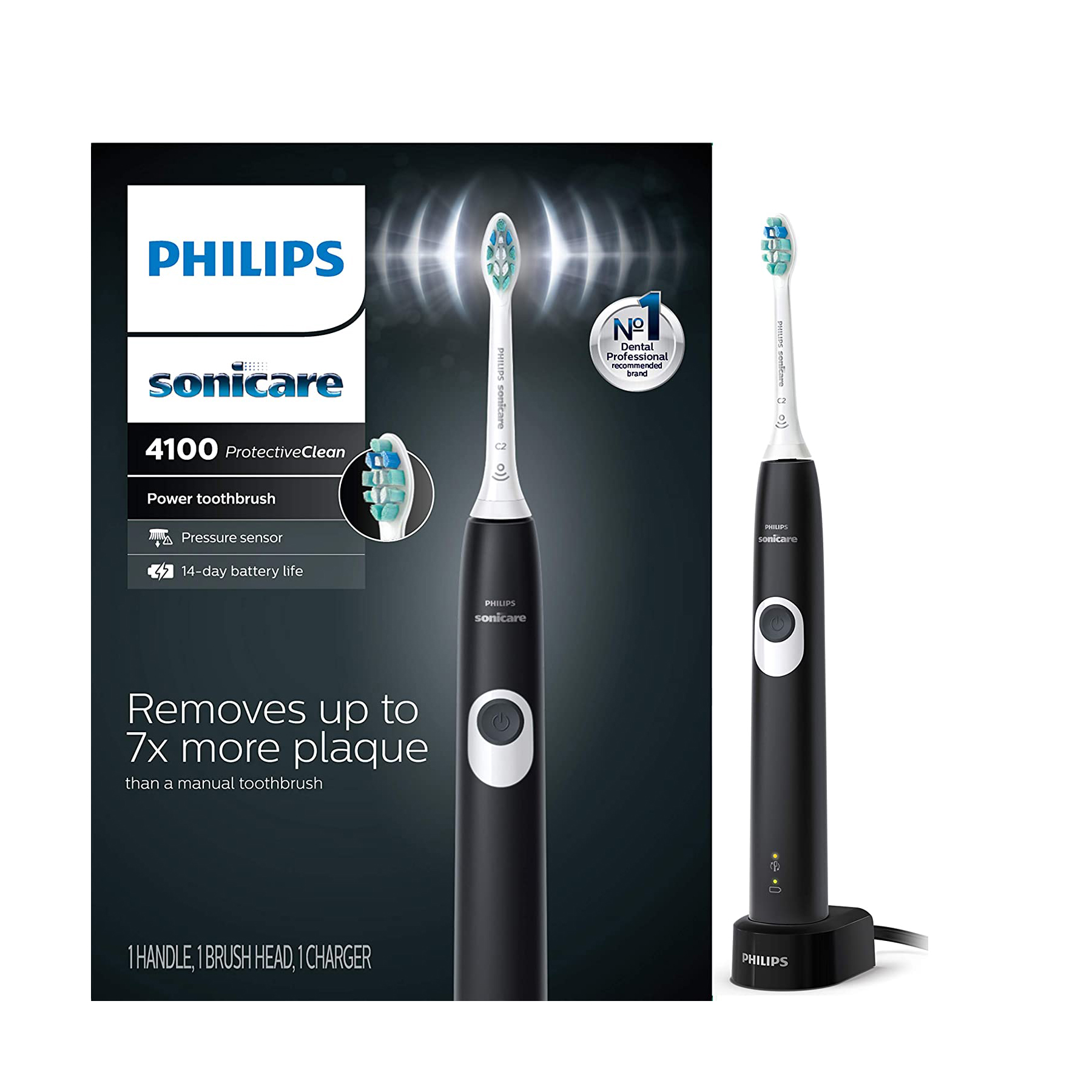 Philips Sonicare HX6810/50 ProtectiveClean 4100 Rechargeable Electric Toothbrush