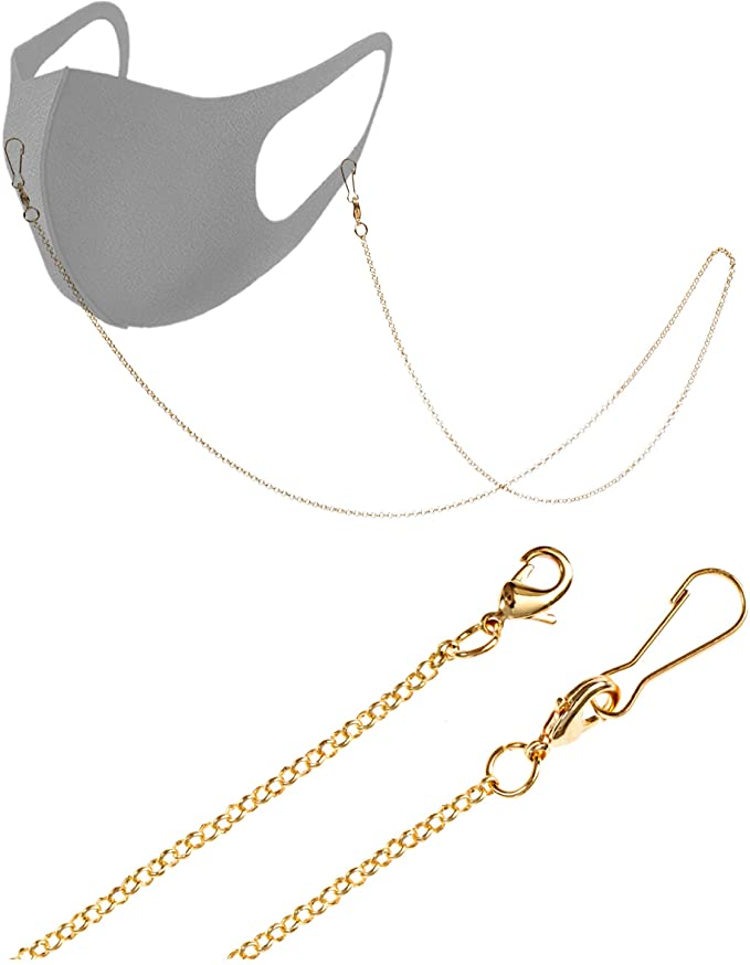 face mask chain amazon in gold loop chain