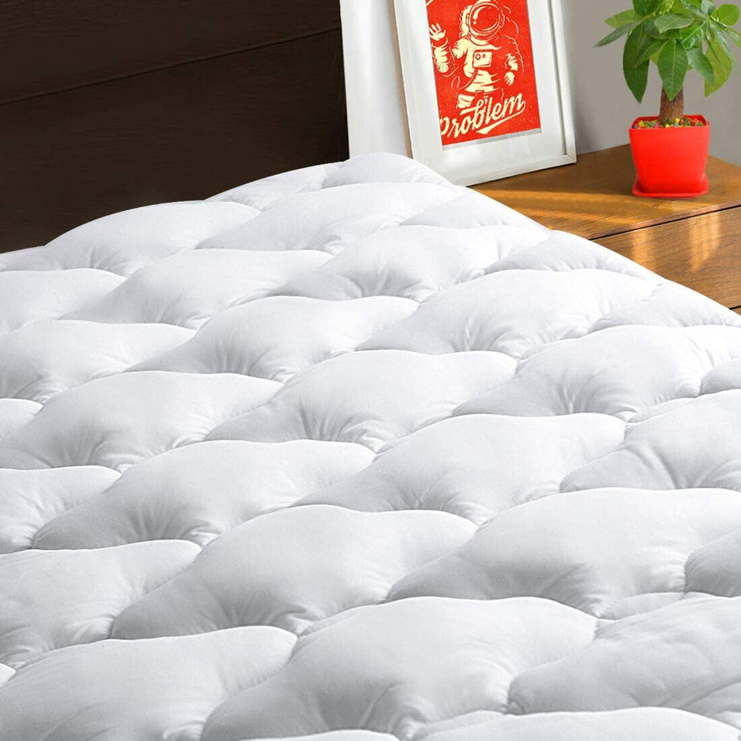 TEXARTIST Queen Mattress Pad Cover Cooling
