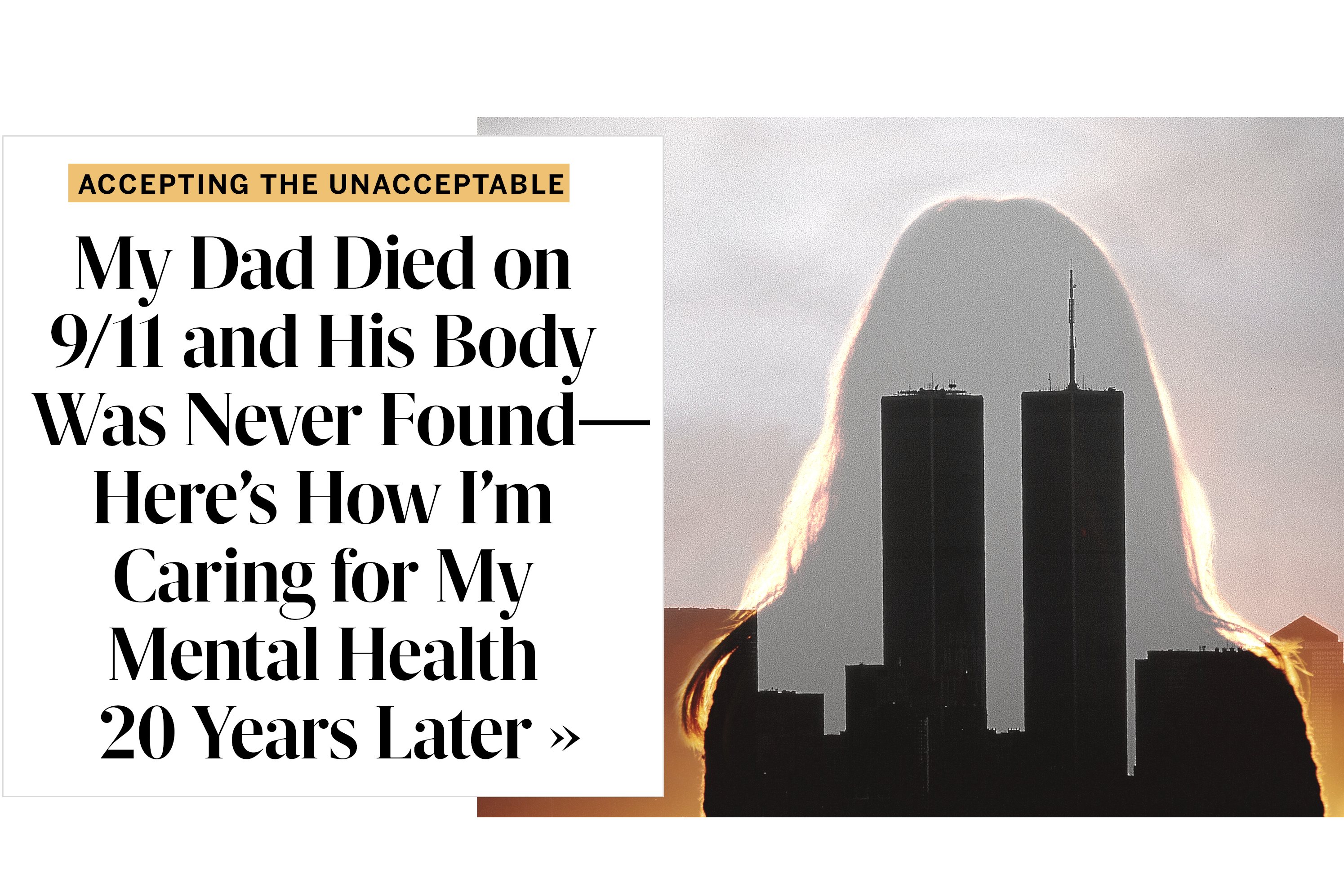 My Dad Died on 9/11 and His Body Was Never Found—Here's How I'm Caring for My Mental Health 20 Years Later