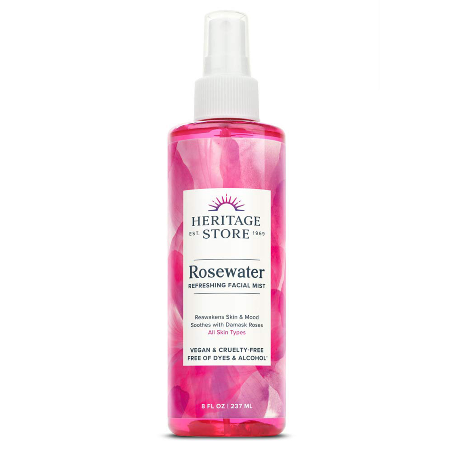Heritage Store Rosewater Refreshing Facial Mist for Glowing Skin