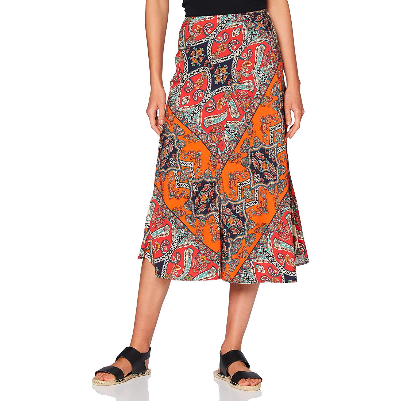 find. Printed Summer Midi Skirt