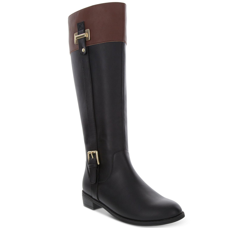 karen scott riding boots black cognac